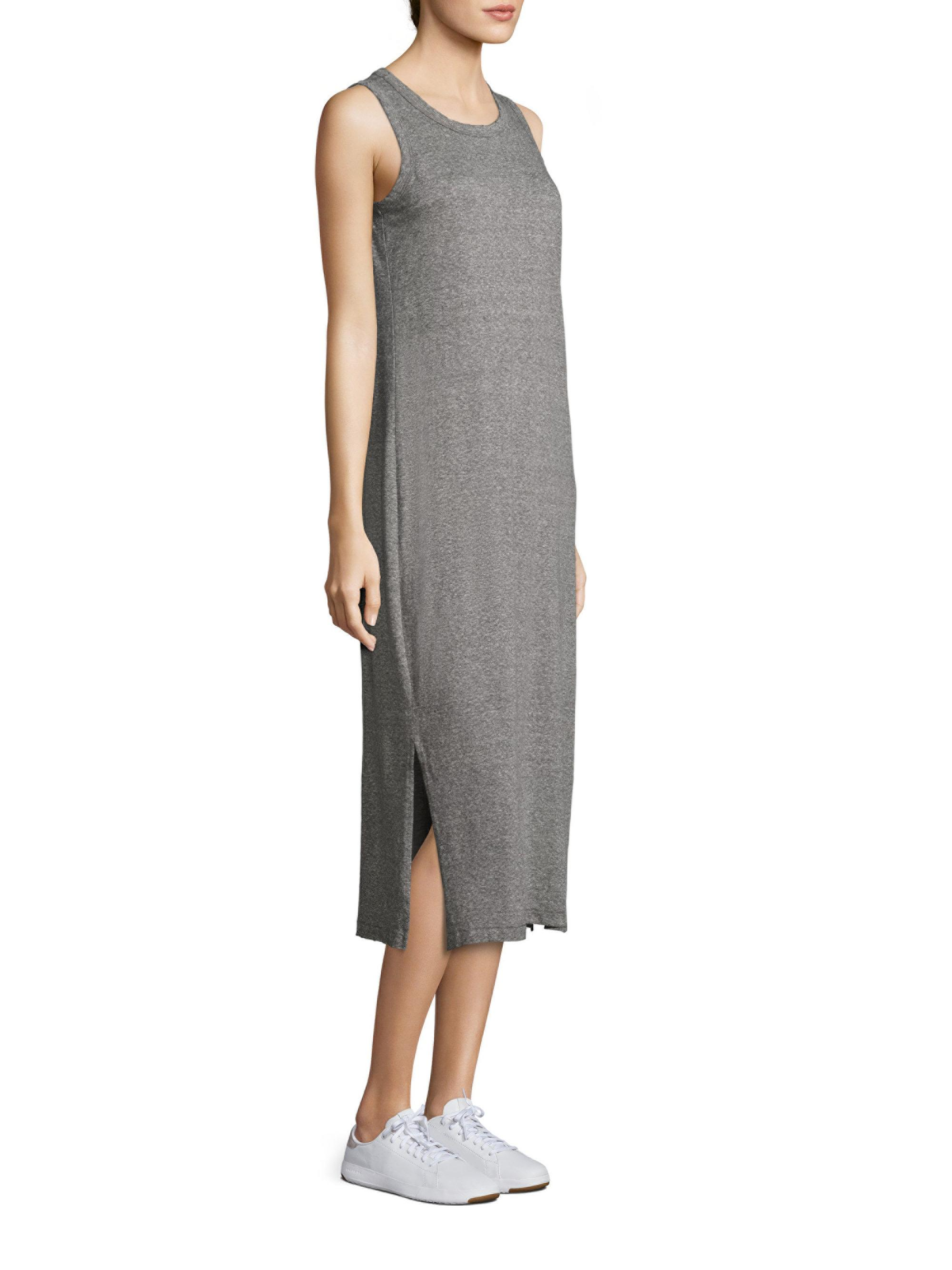1659f3d5eeedbe Lyst - Current Elliott The Perfect Muscle Tee Dress in Gray