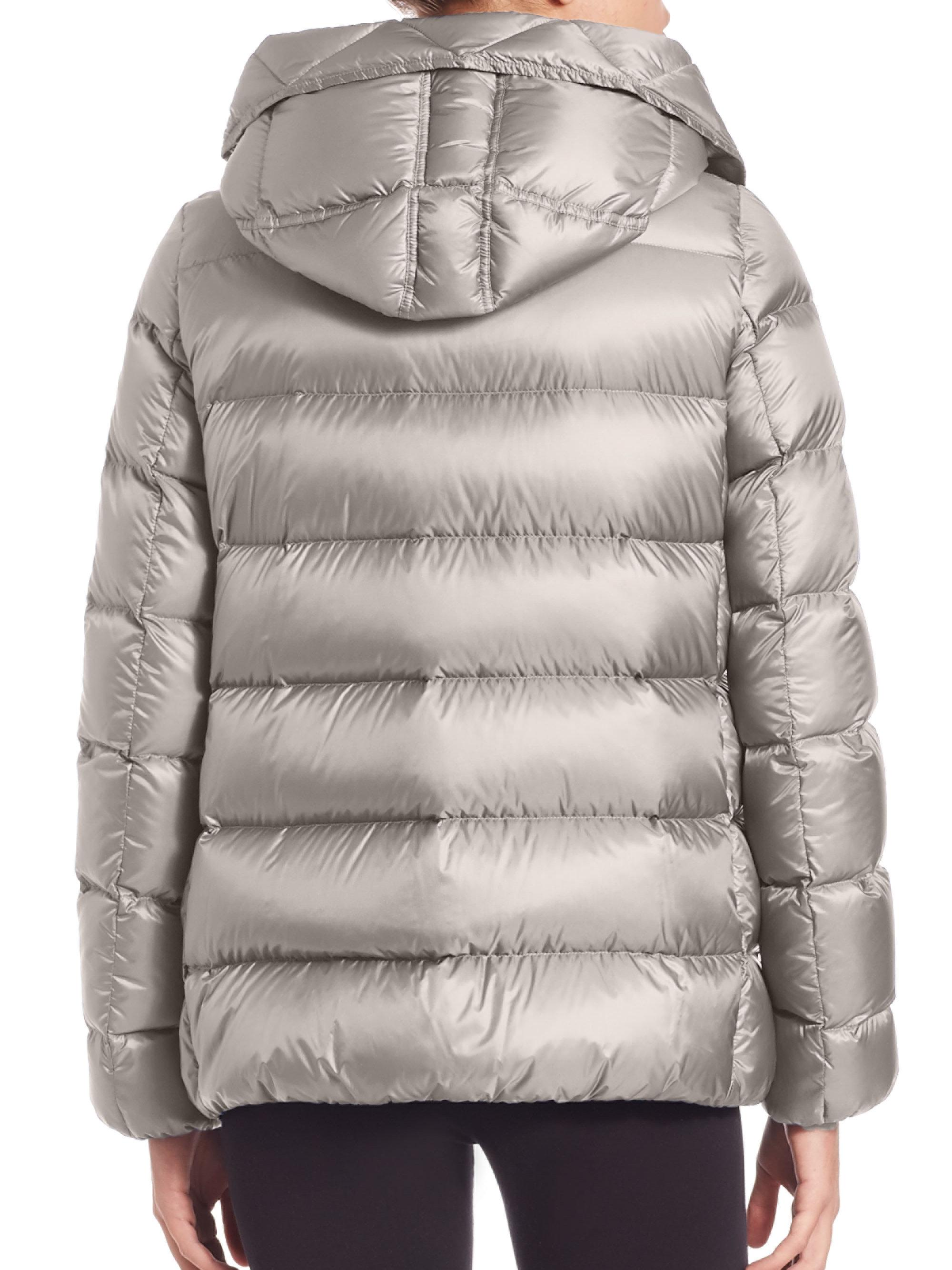 9243f2cac775 Lyst - Moncler Serinde Hooded Puffer Jacket in Blue