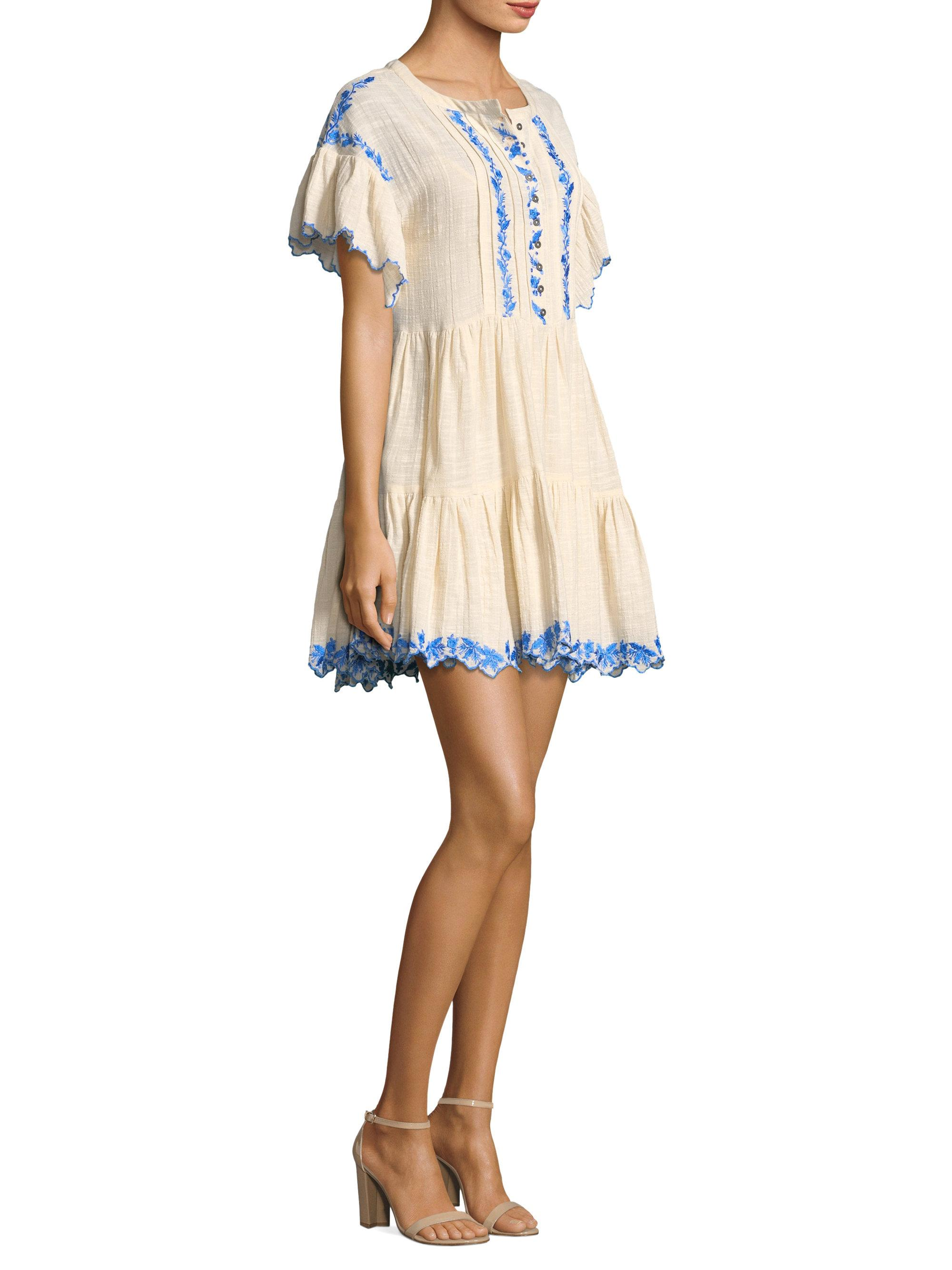 Home; Free People Marcella Embroidered Mini Dress. image.AlternateText