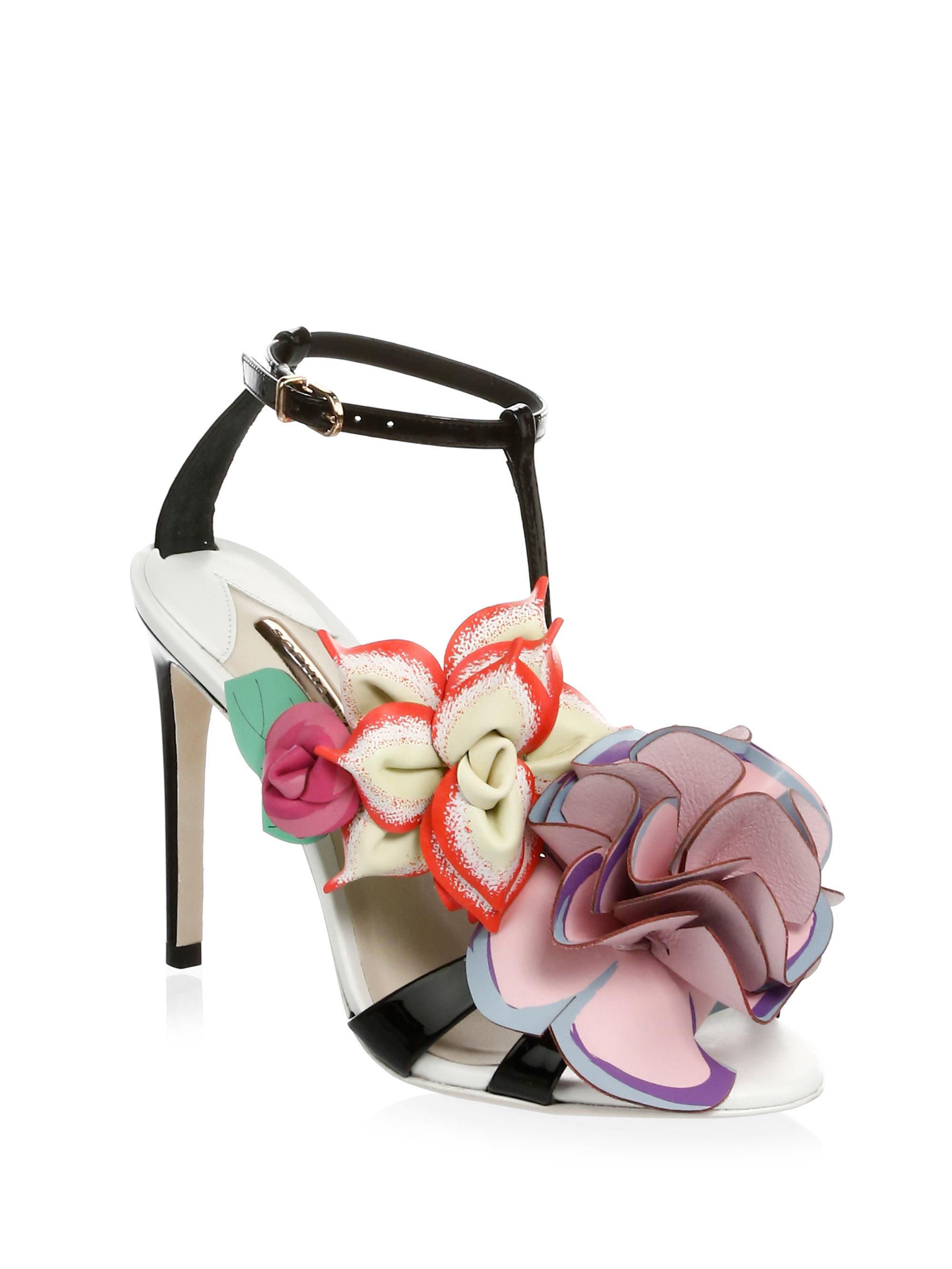 1a40e606e59 Sophia Webster Jumbo Lilico Patent Sandals in Black - Lyst