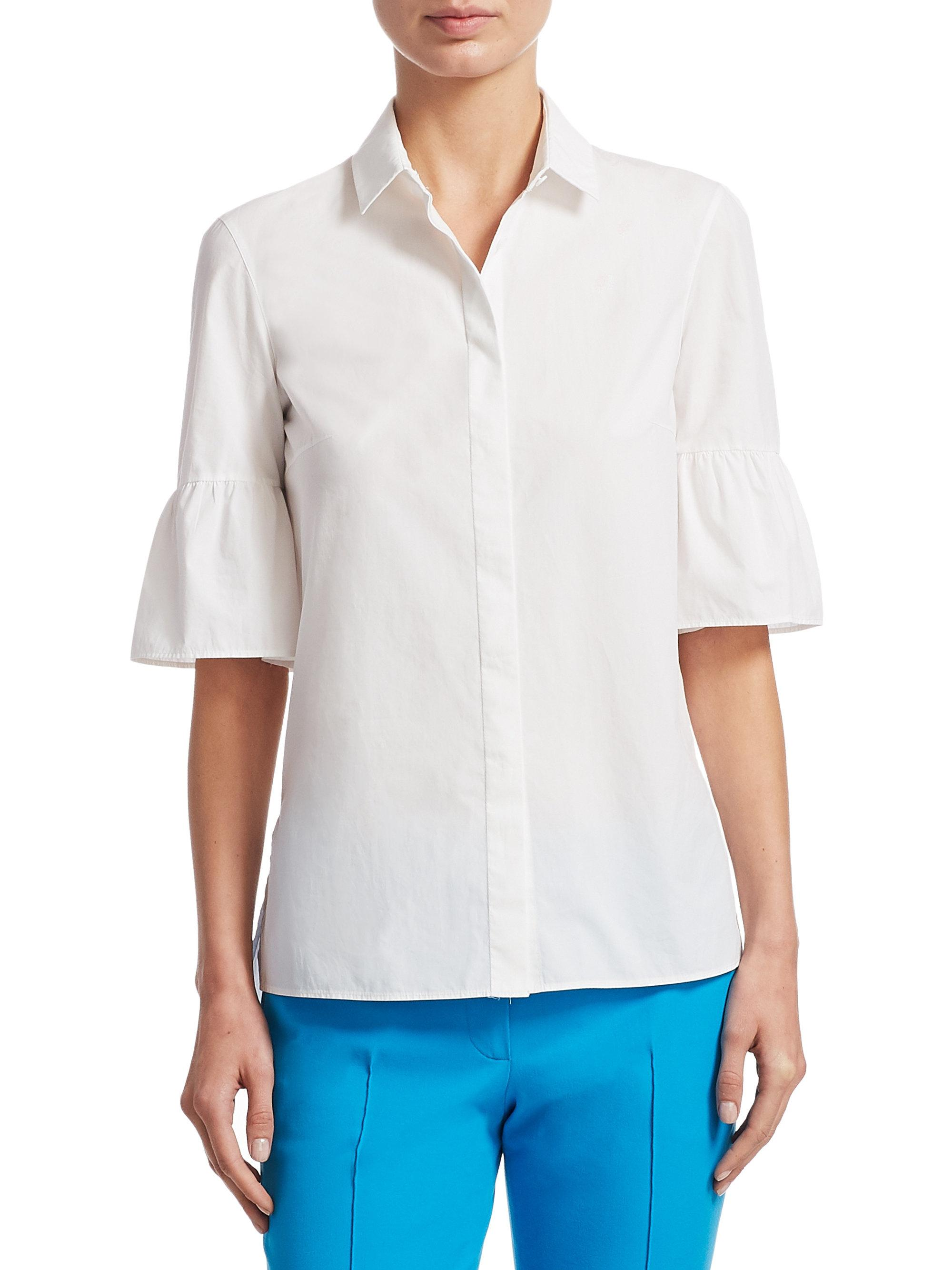 Shopping Online sleeveless mesh detail blouse - White Akris Popular Pay With Paypal Sale Online cT5f2QB
