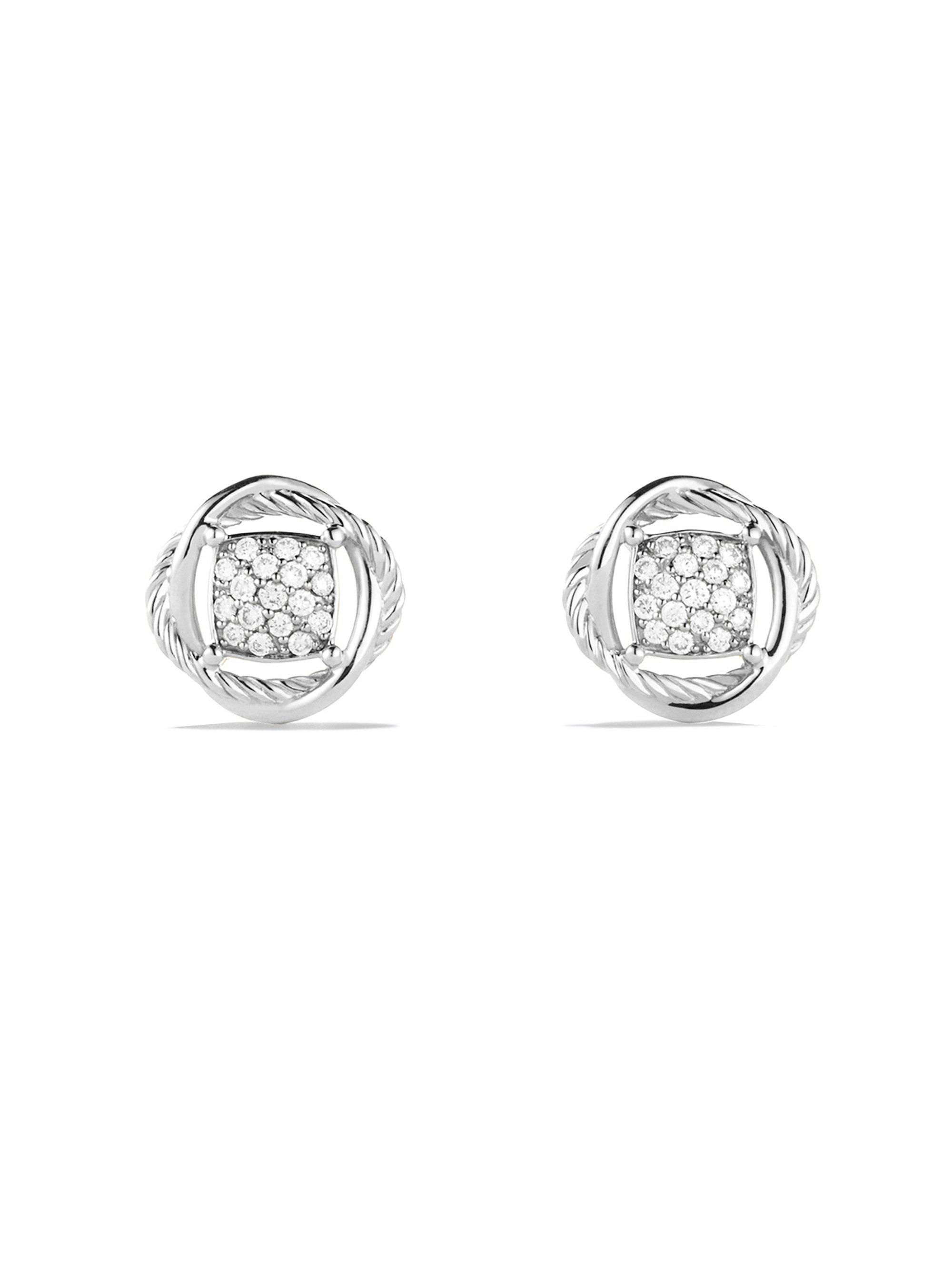 earring earrings infinity silver simply sterling pave jewellery swirl zoom