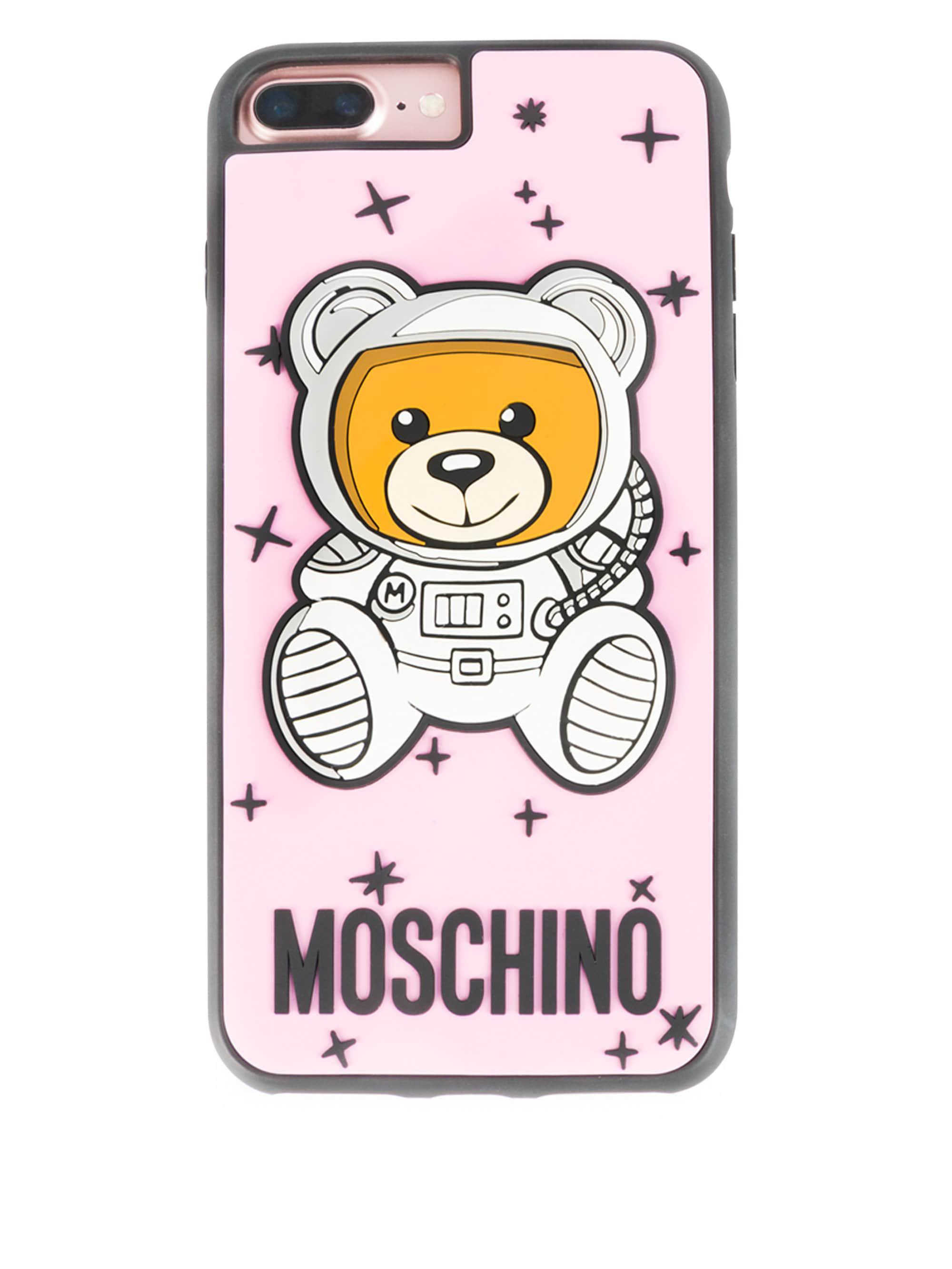 buy popular 8ccbb c0824 Moschino Astro Bear Iphone 8 Plus Case in Pink - Lyst