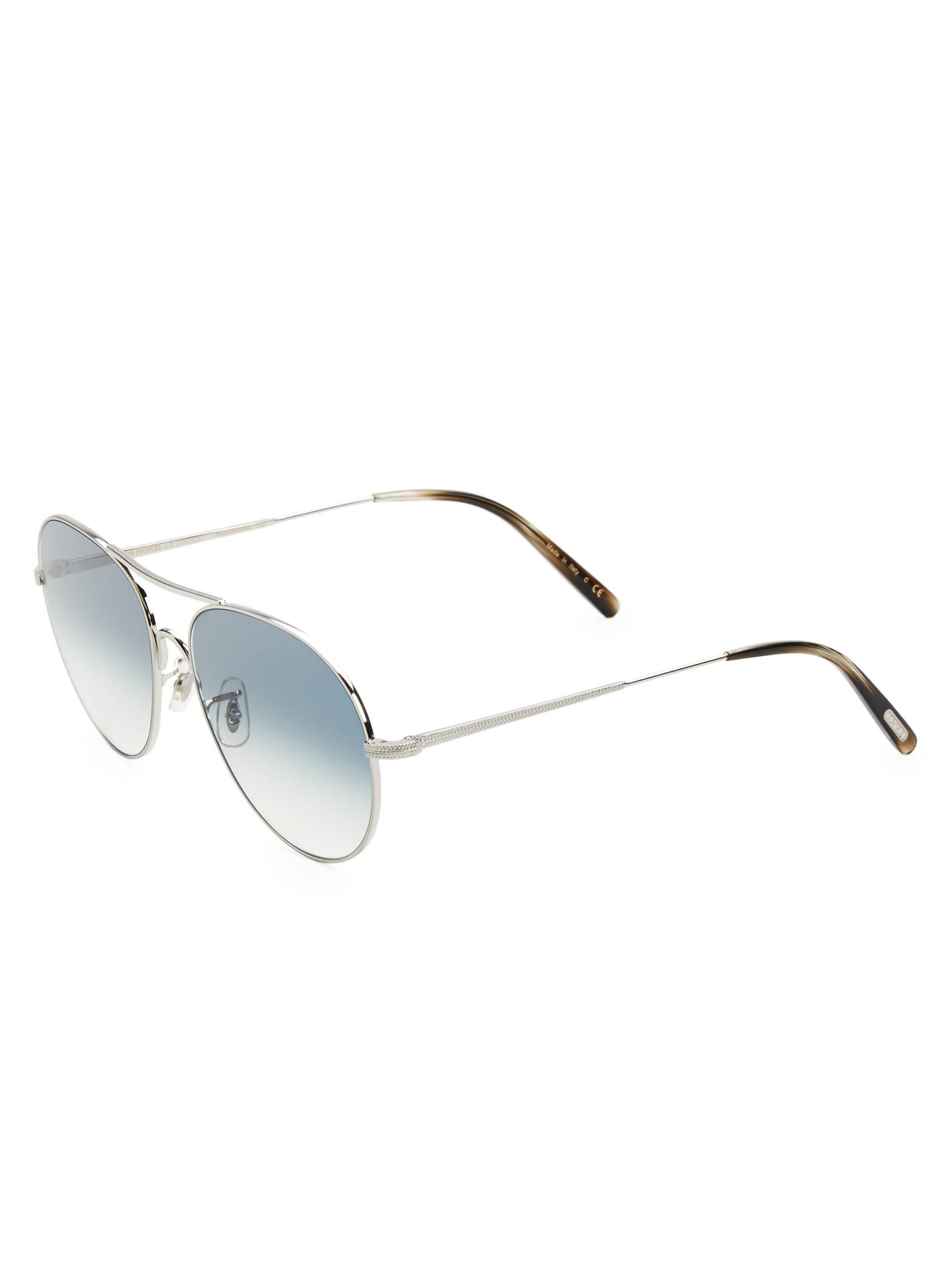 62b4a45bfd3 Oliver Peoples - Metallic Rockmore 58mm Aviator Sunglasses for Men - Lyst.  View fullscreen