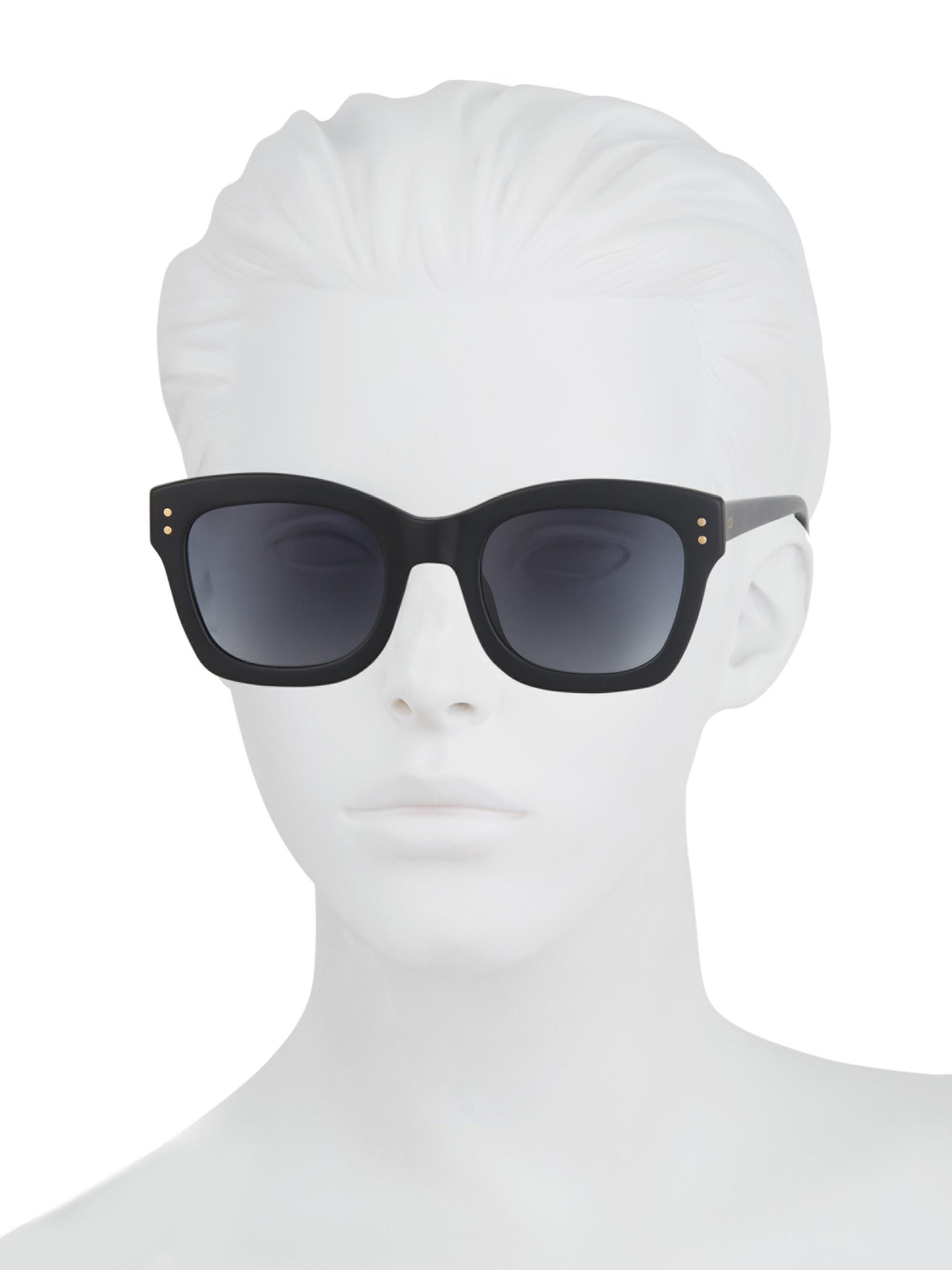 52b148d040bf7 Dior Women s Izon 2 51mm Square Sunglasses - Black in Black - Lyst
