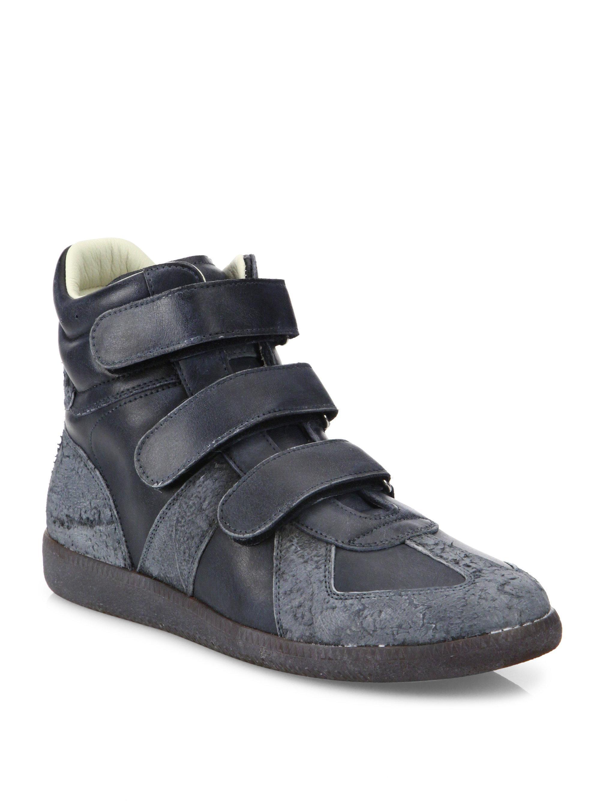 Maison Margiela Black Triple Velcro Sneakers 7XQ6w