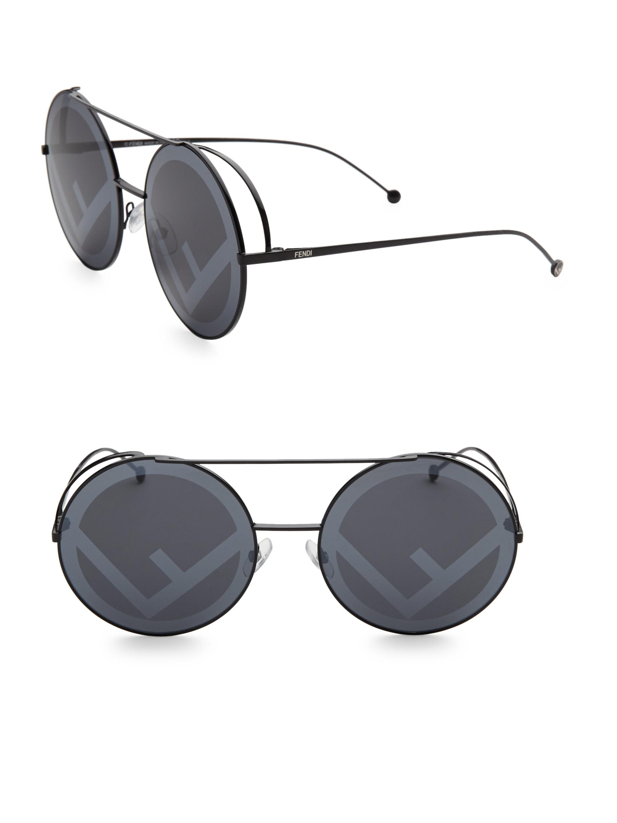 ace62e0eb08c Gallery. Previously sold at  Saks Fifth Avenue · Women s Round Sunglasses
