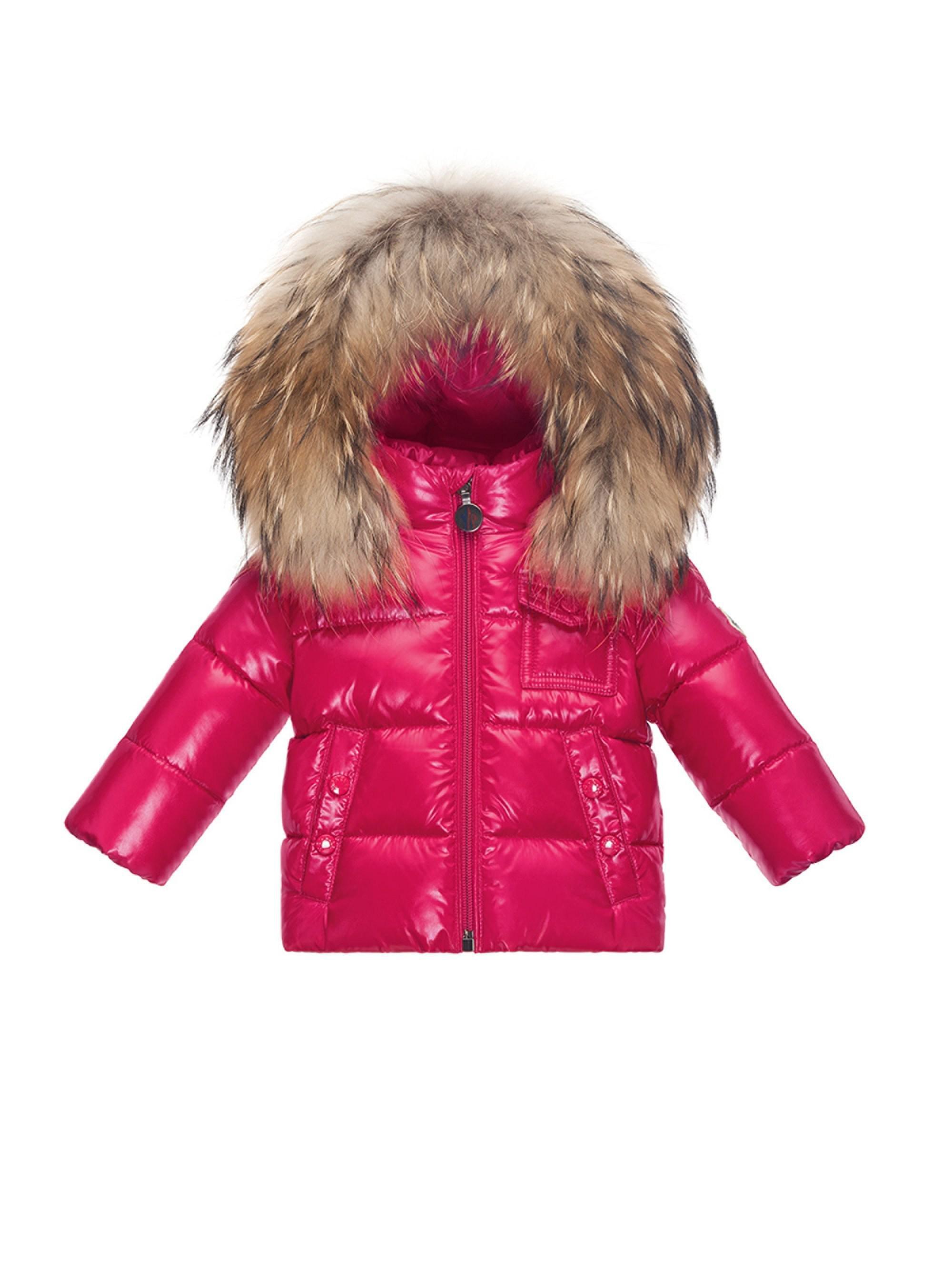 336ef67d3315 Moncler Baby Girl s Fur-trim Puffer Jacket - Lyst