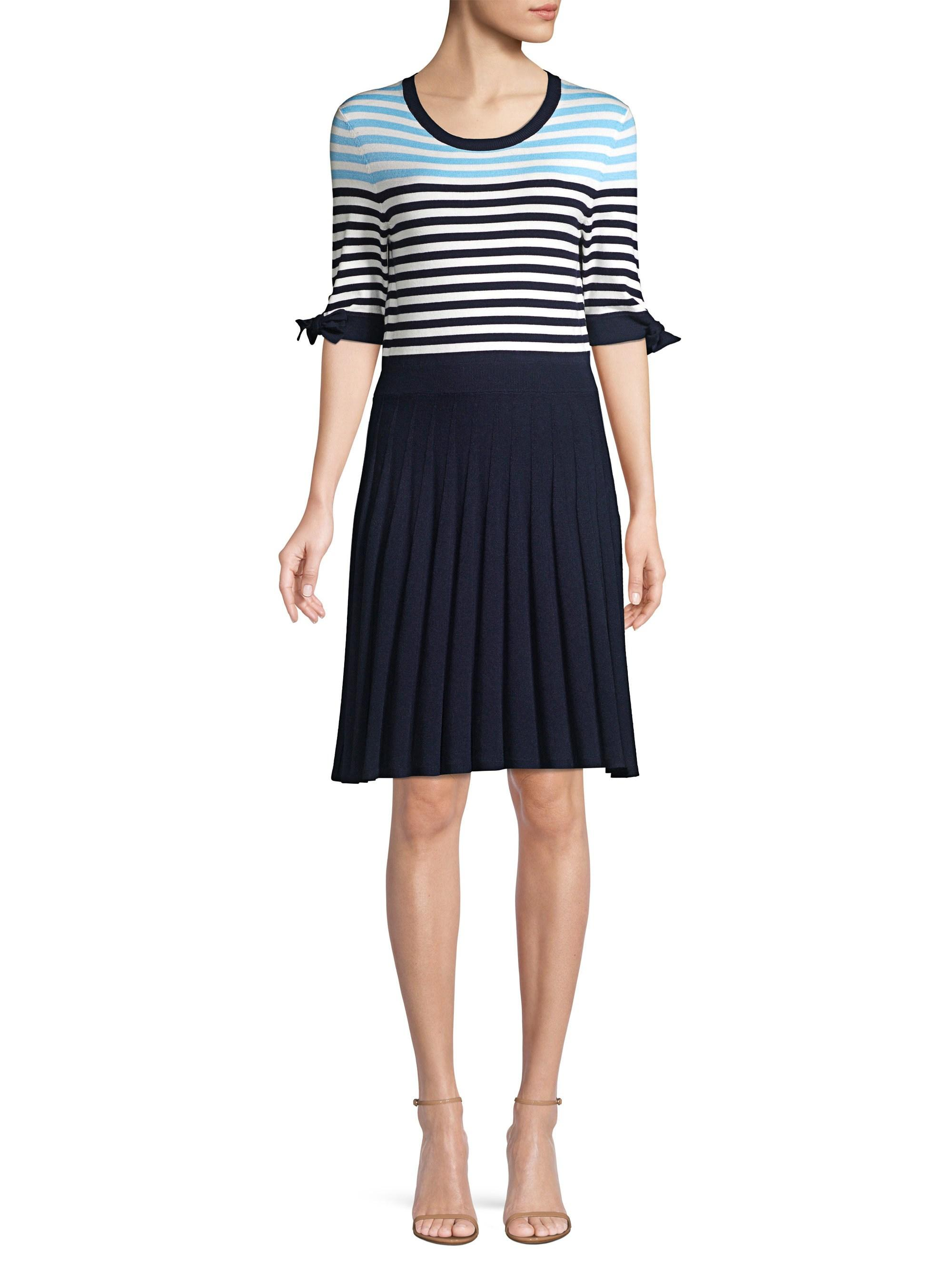 5fedec67bb Lyst - Draper James Sailor Stripe Sweater Dress in Blue