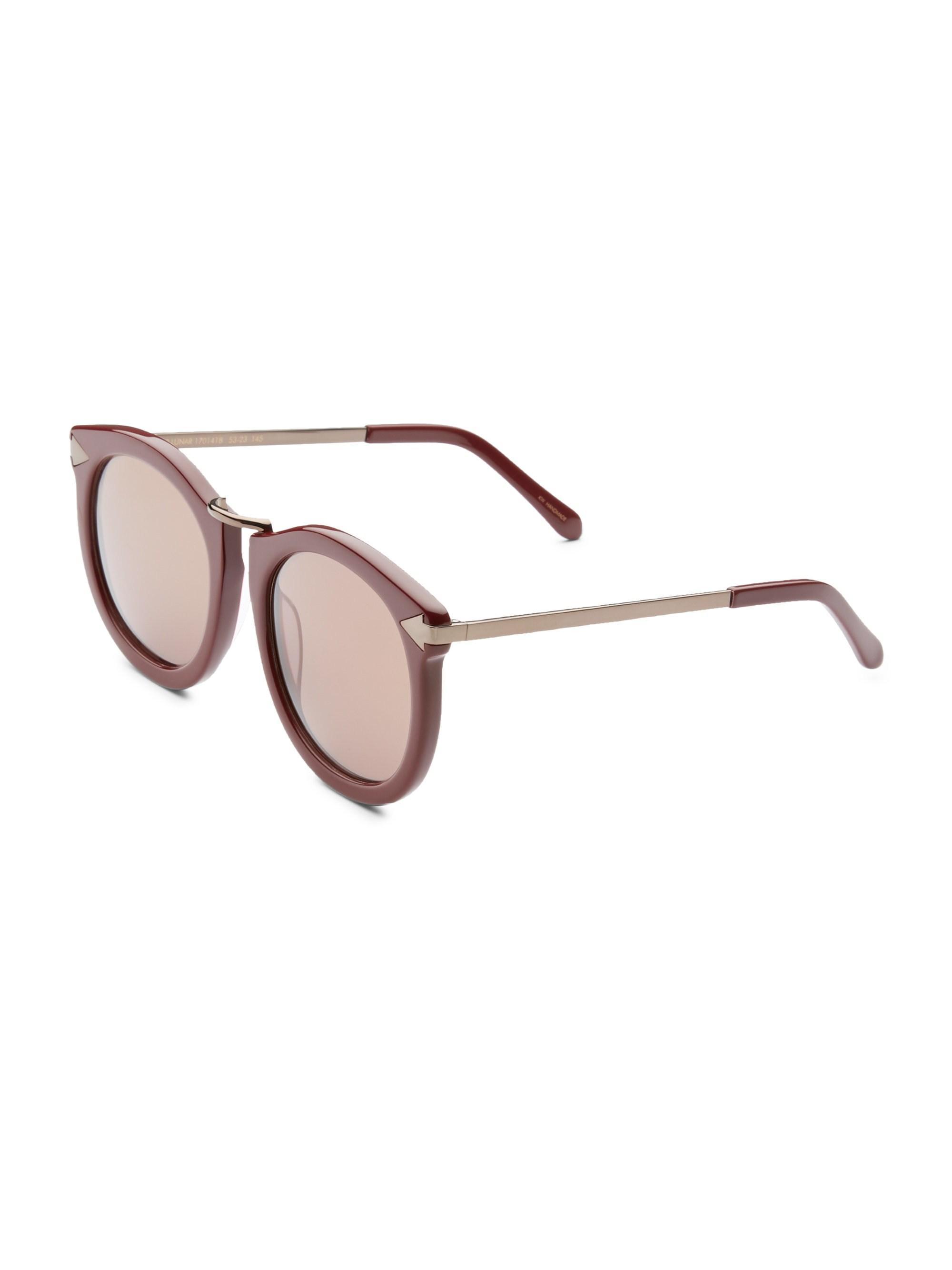 6ea32f98beec Lyst - Karen Walker Women s Super Luna 53mm Round Sunglasses ...