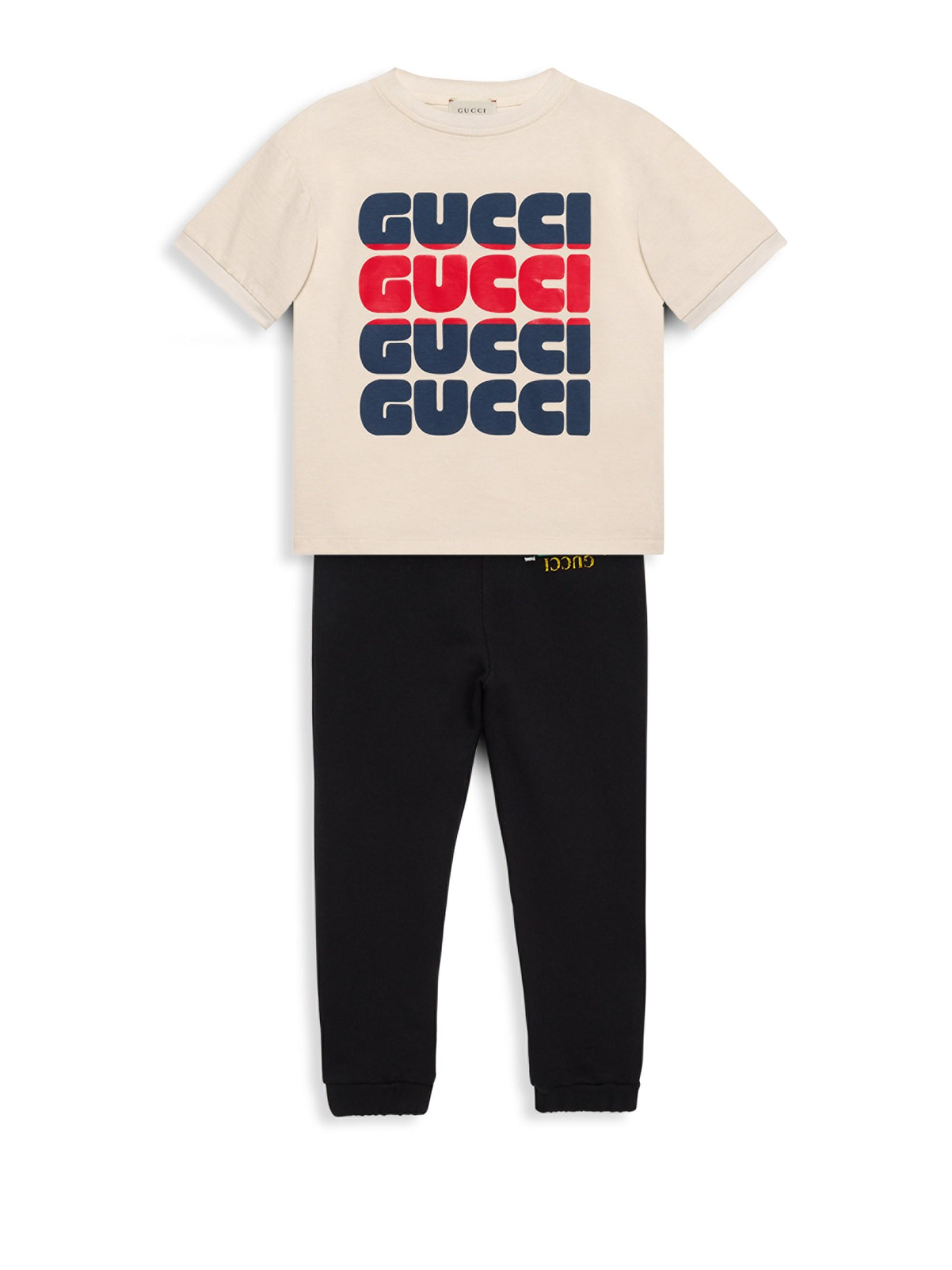 b39bfe98be7e Lyst - Gucci Little Boy's & Boy's Bold Print T-shirt in Brown for Men