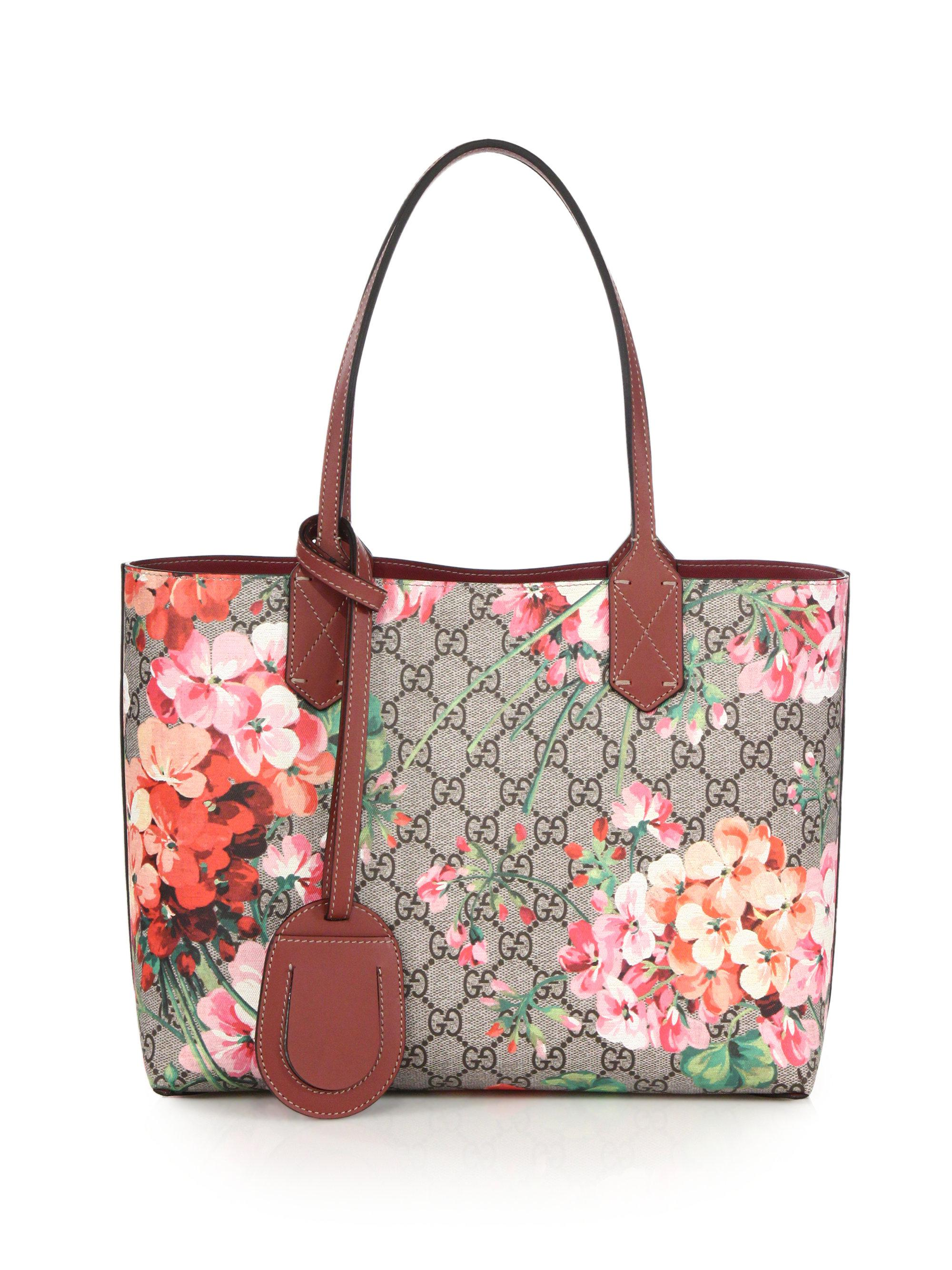 3df8c78cc Gucci Gg Blooms Small Reversible Tote in Pink - Lyst