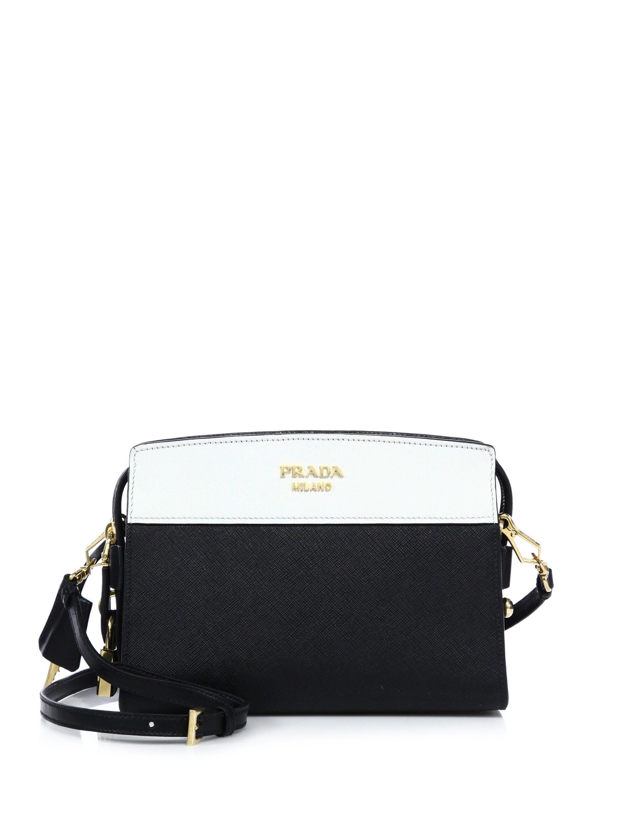 1feb3db28ef6 ... buy prada black esplanade leather shoulder bag lyst. view fullscreen  bc379 b8aca