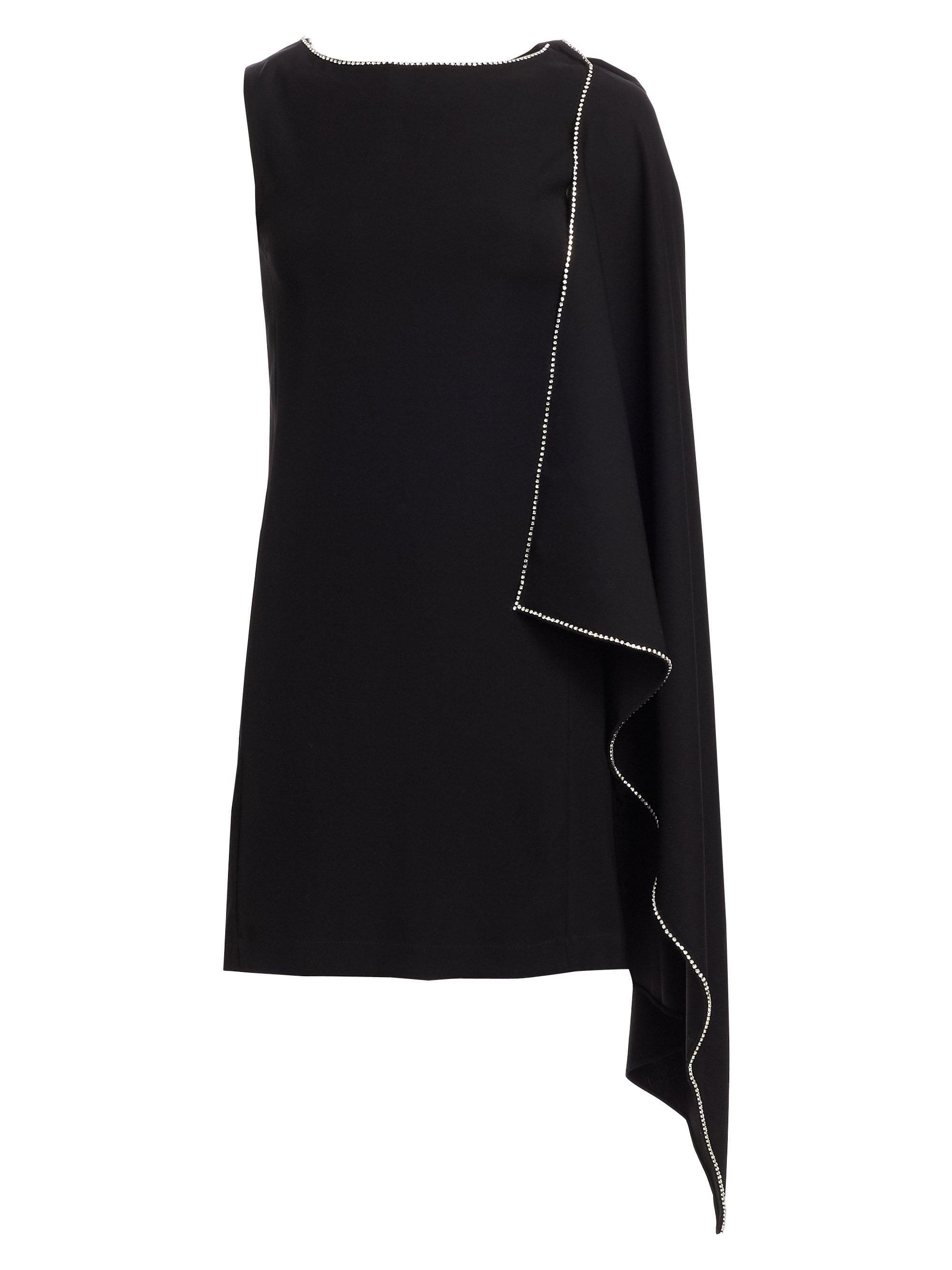 3c9af7ab Lyst - McQ Cascade Crepe Shift Dress in Black