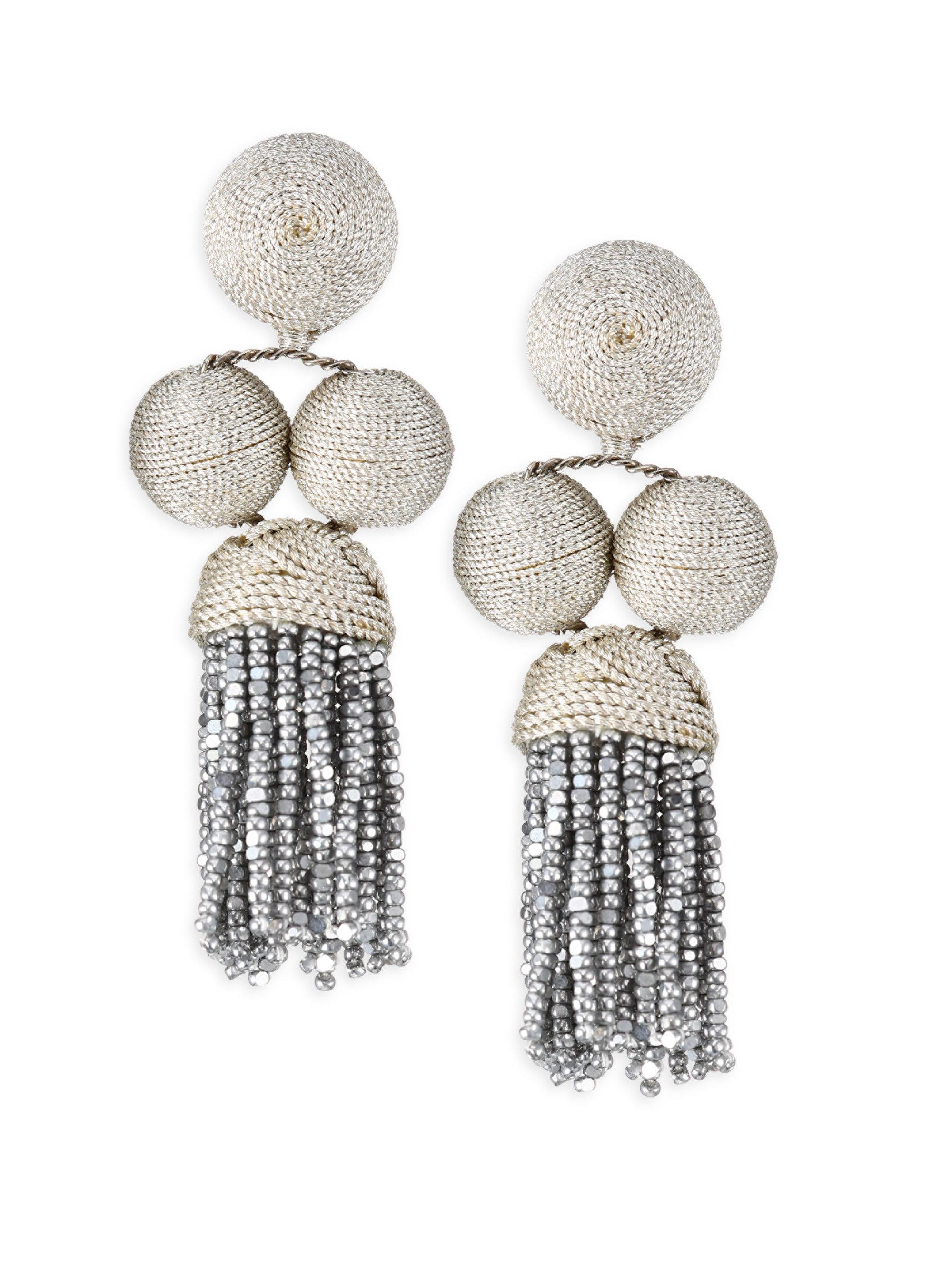 Cha Cha Tassel Short Earrings Rebecca de Ravenel C4dFogIa