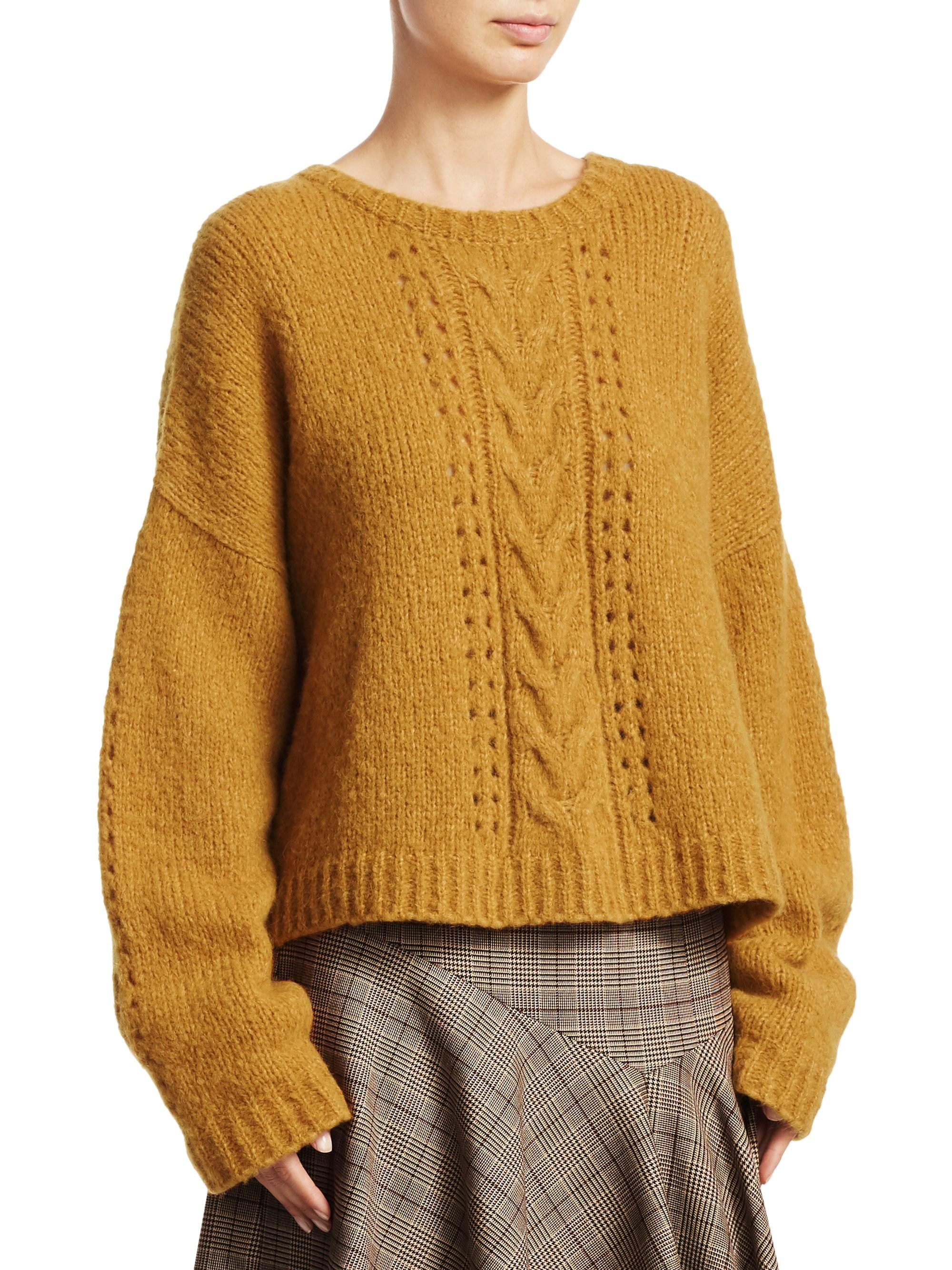 Perfect In Knit Cable Metallic Nanette Pullover Lyst Lepore 53L4RqAj
