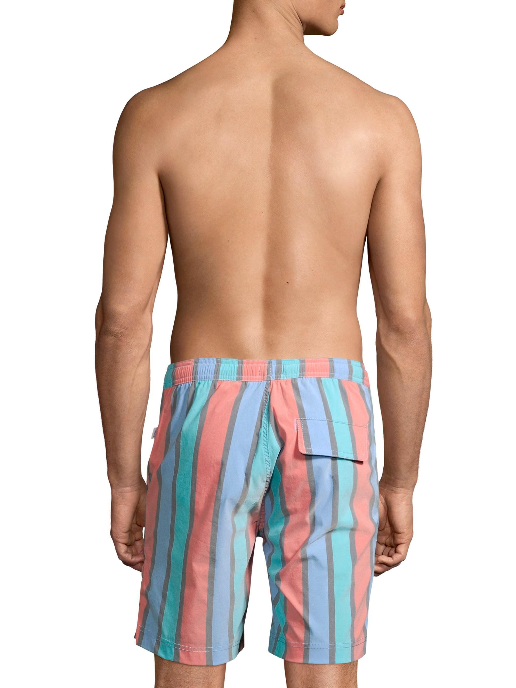 62b1ffc09e Onia Calder Stripe Trunks in Blue for Men - Lyst