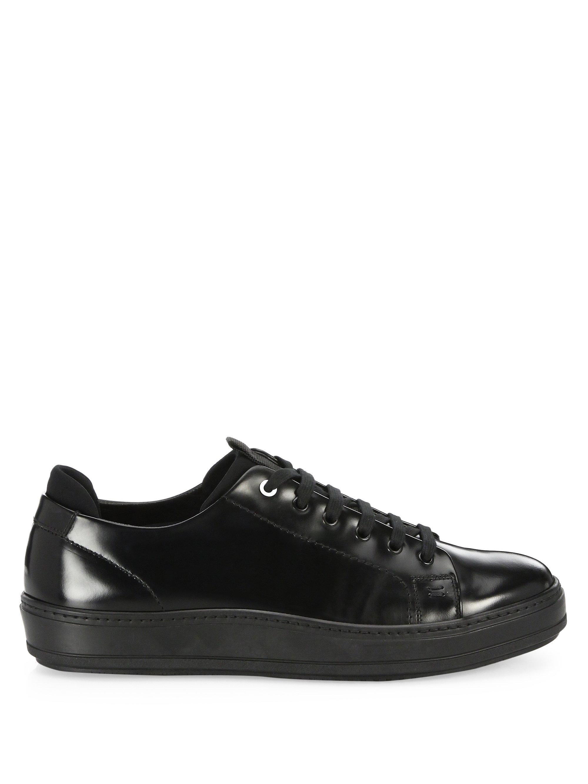 Saks Fifth Avenue COLLECTION Neoprene Inset Low-Top Sneakers