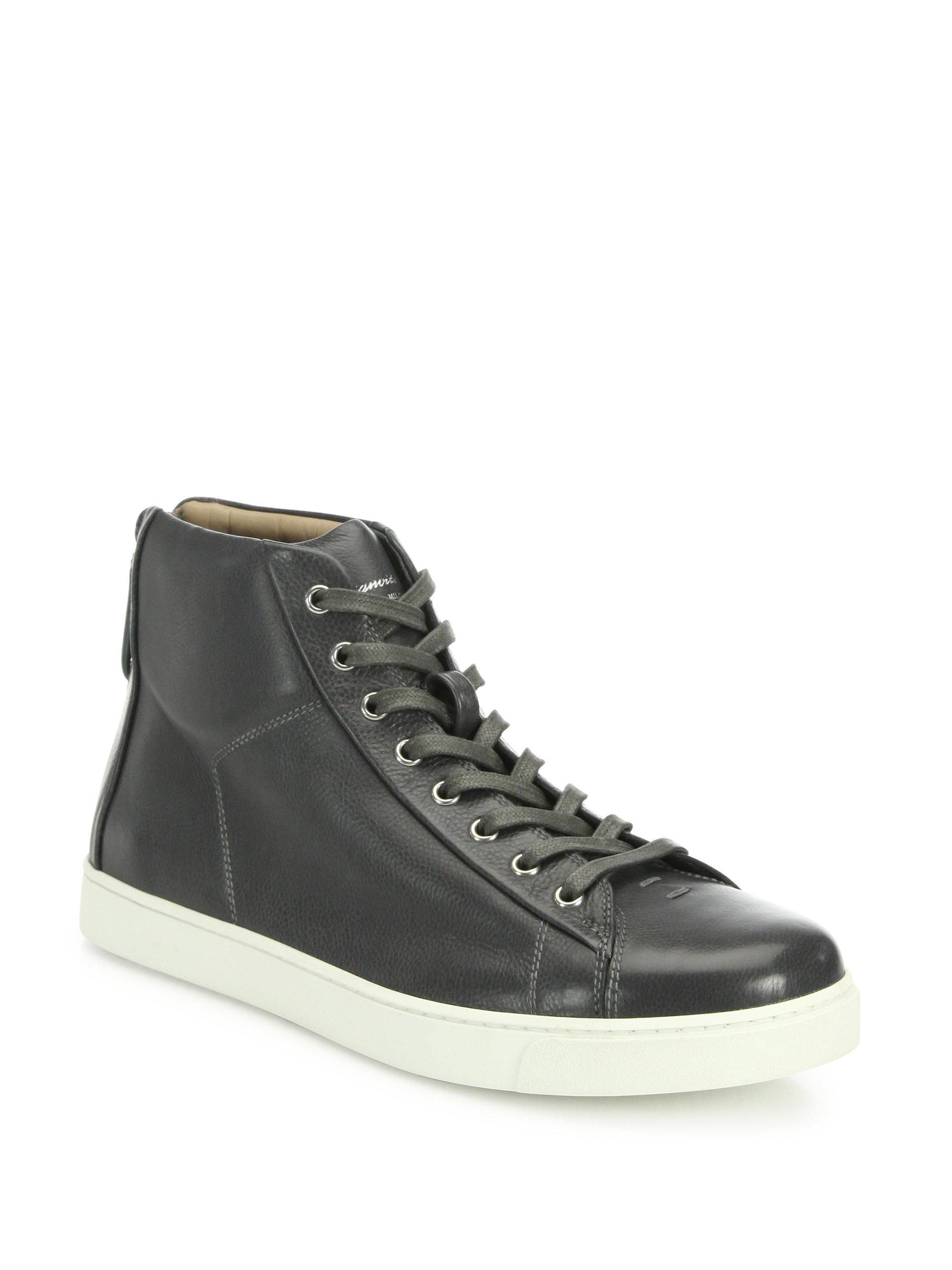 Mens Peter Leather Sneakers Gianvito Rossi uoHkyuSfC