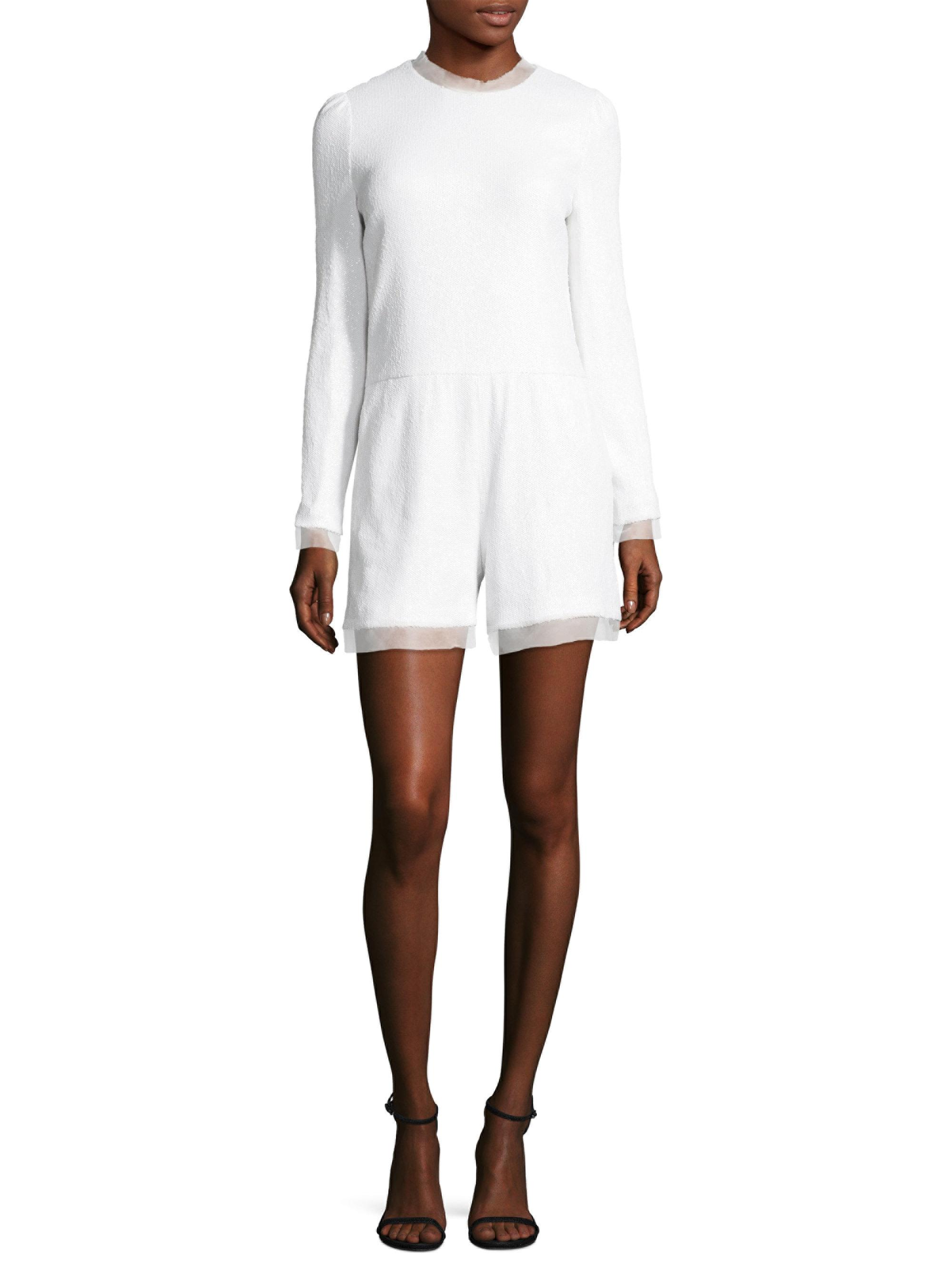 cc8876b7a53 Lyst - Rachel Zoe Vera Romper in White