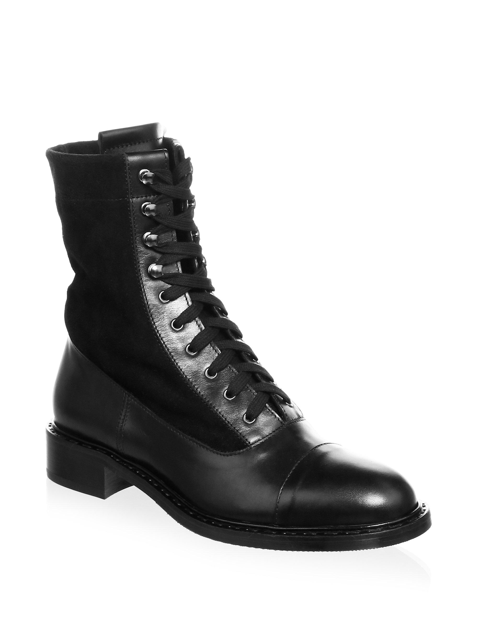 Aquatalia Brigitta Suede and Leather Lace-Up Boots 9Wdytt1nuF