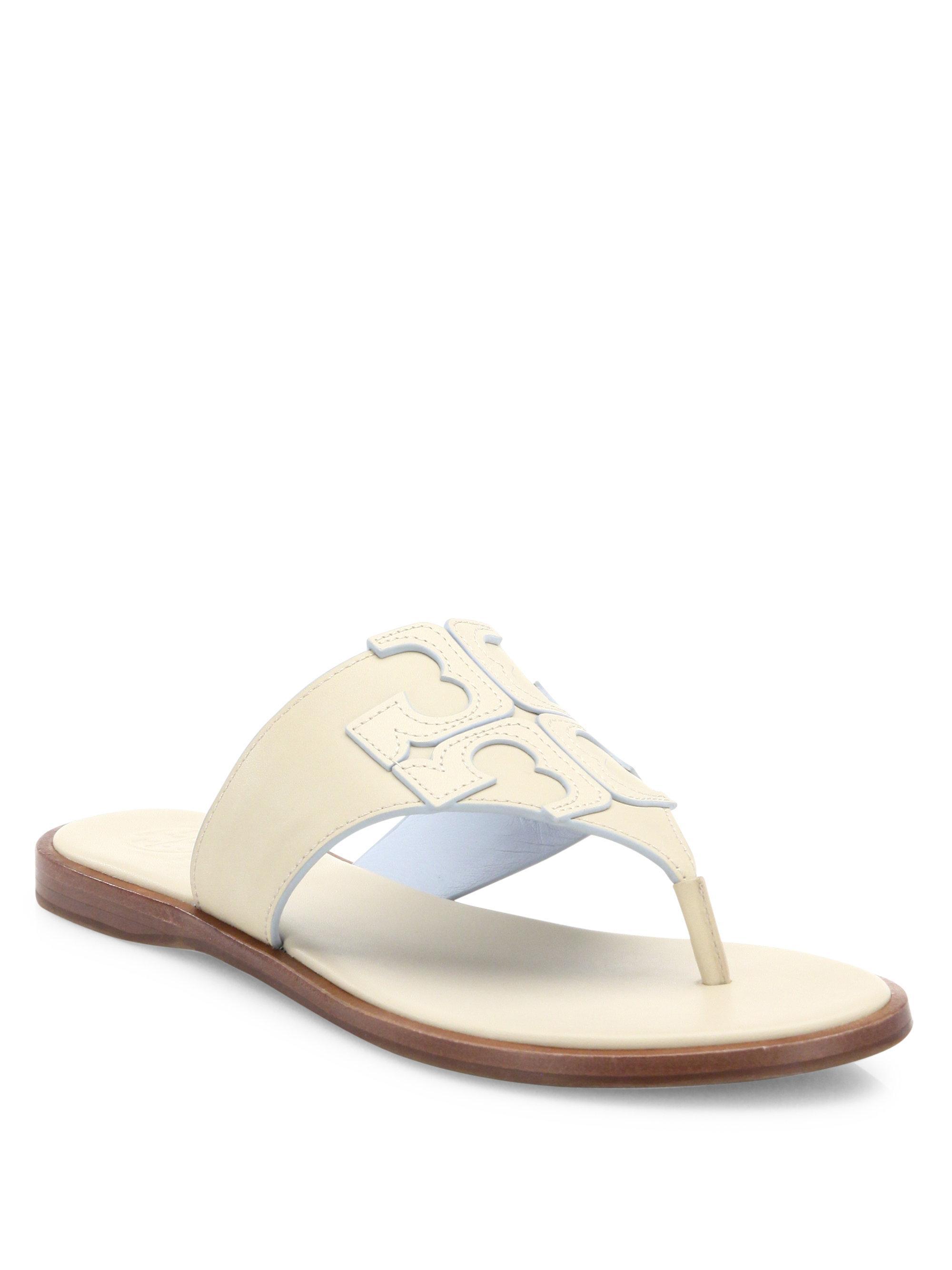 53a337220d2033 Lyst - Tory Burch Jamie Logo Thong Sandals
