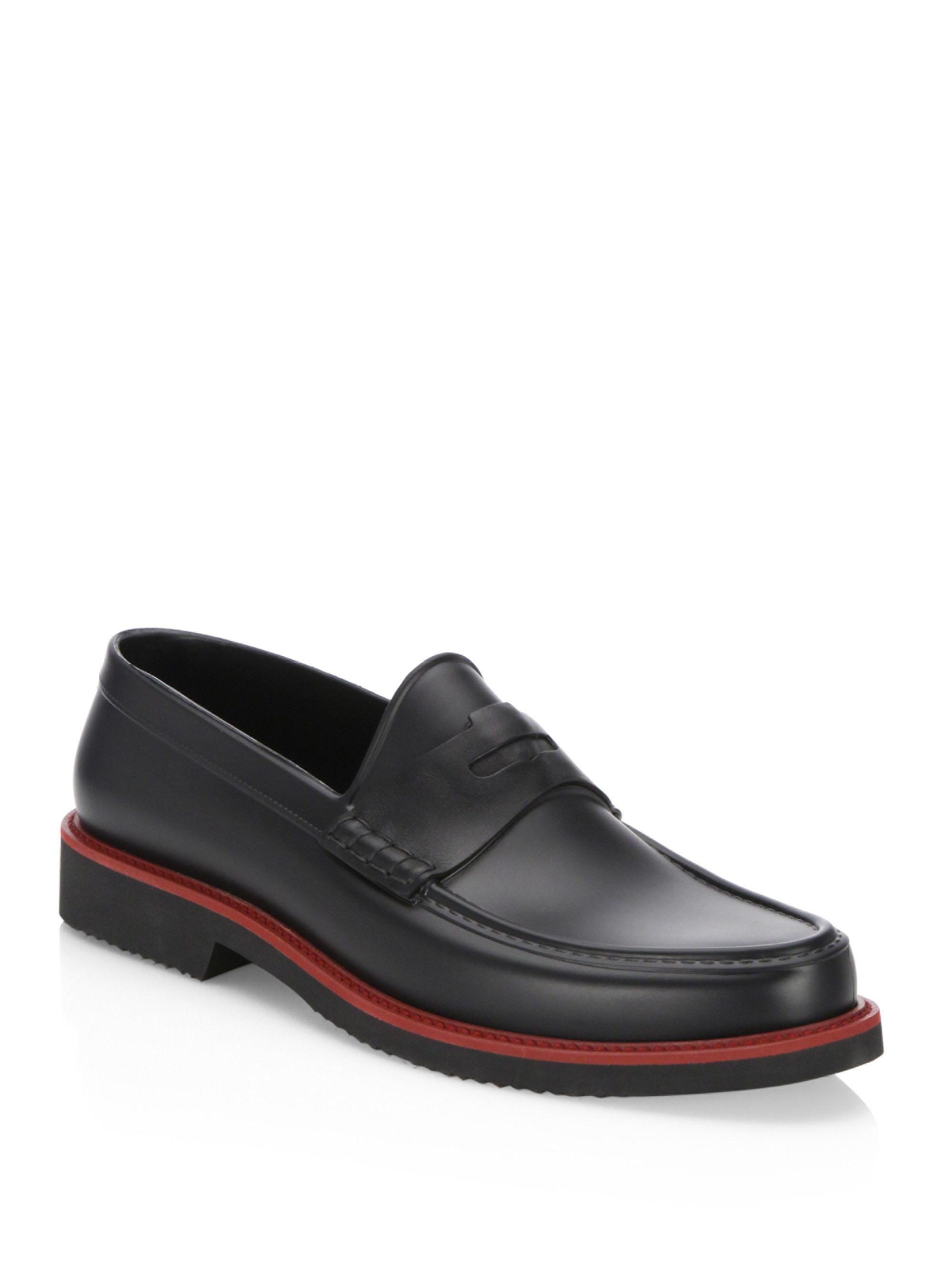 Saks Fifth Avenue COLLECTION Moc Rubber Penny Loafers 6WhJeFO7