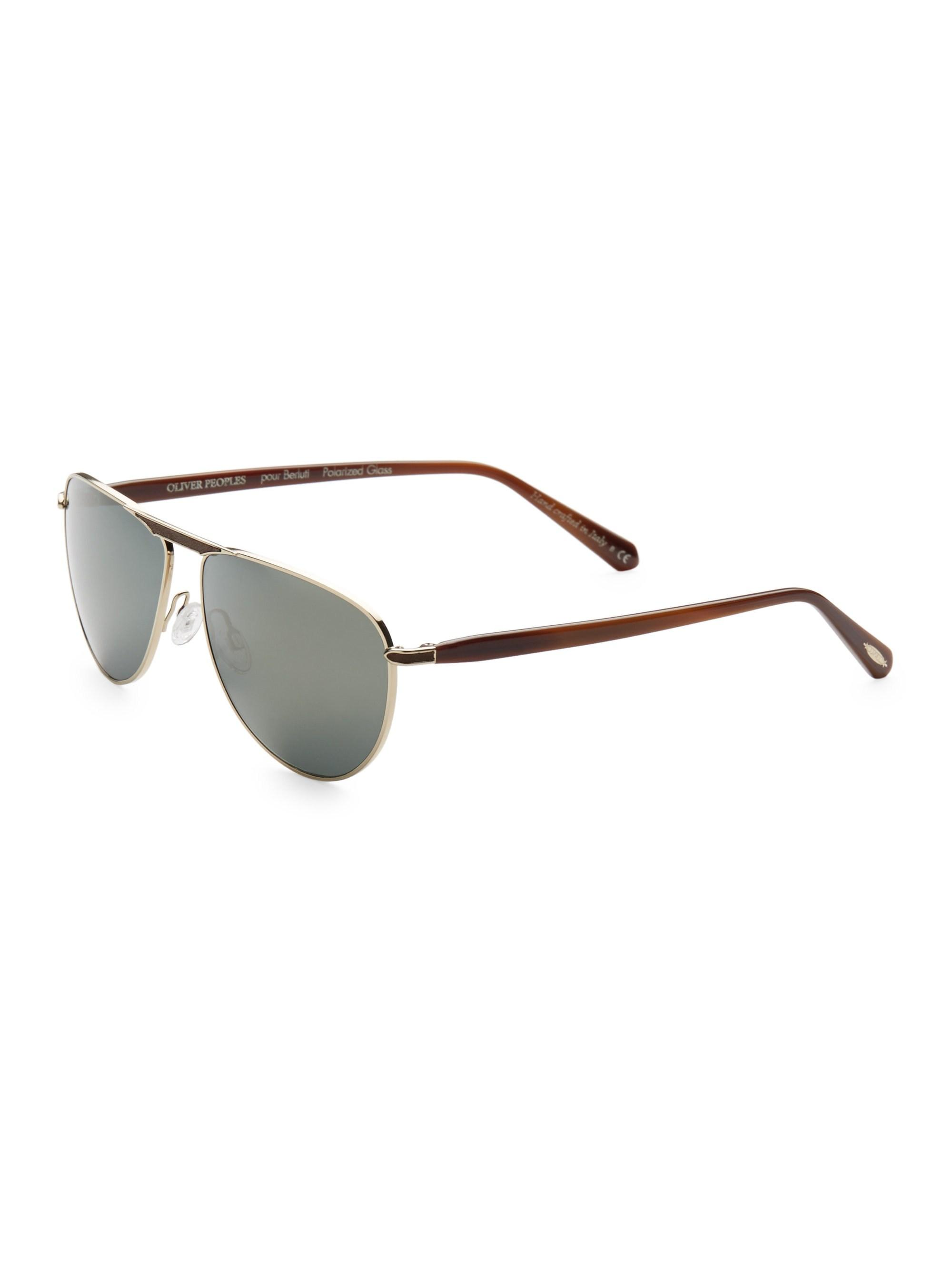 4a2b2ad8fd5 Oliver Peoples - Metallic Conduit 59mm Aviator Sunglasses for Men - Lyst.  View fullscreen