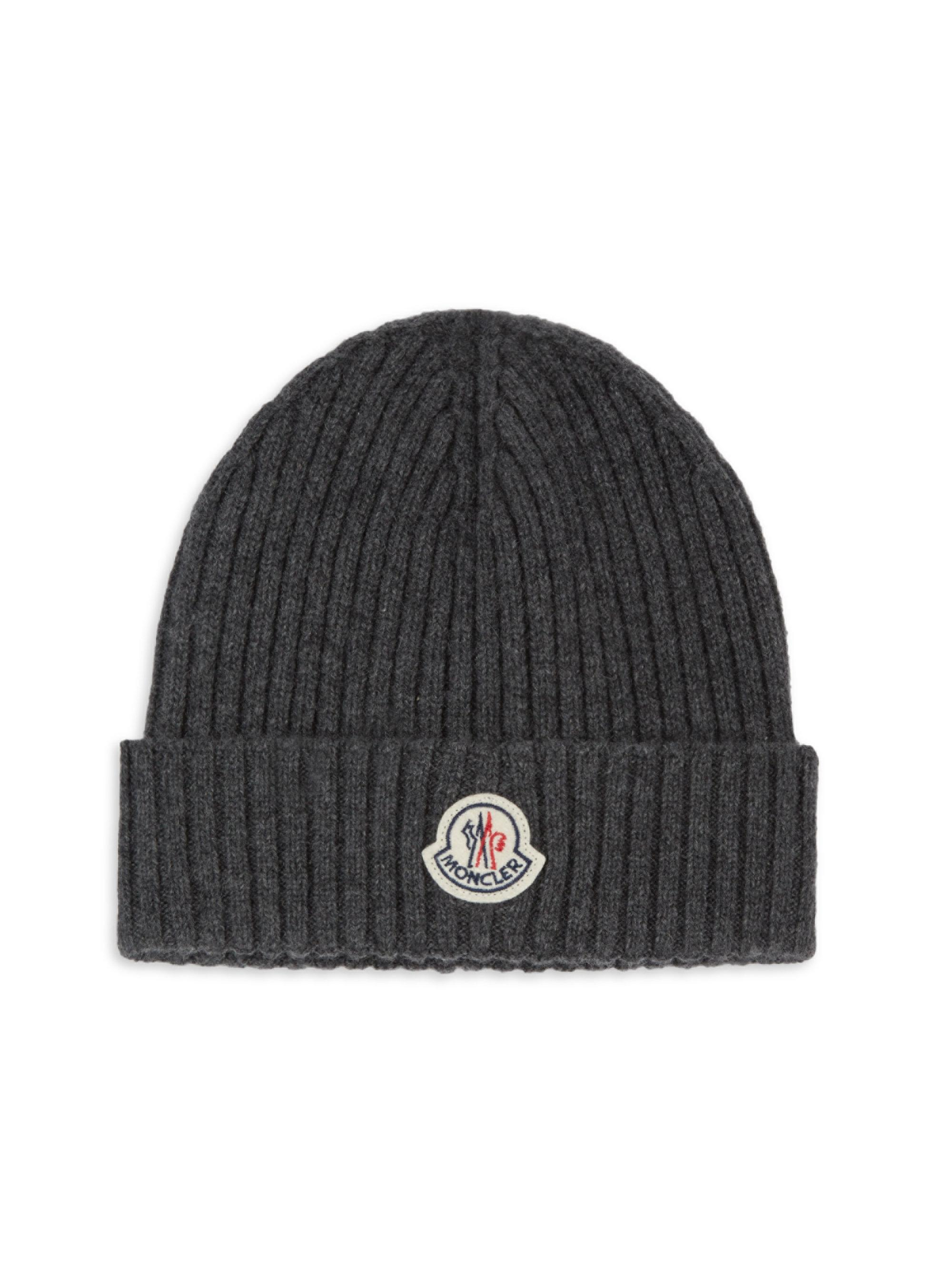 Moncler Berretto Cashmere Beanie in Gray for Men - Lyst 54135bdcebd2