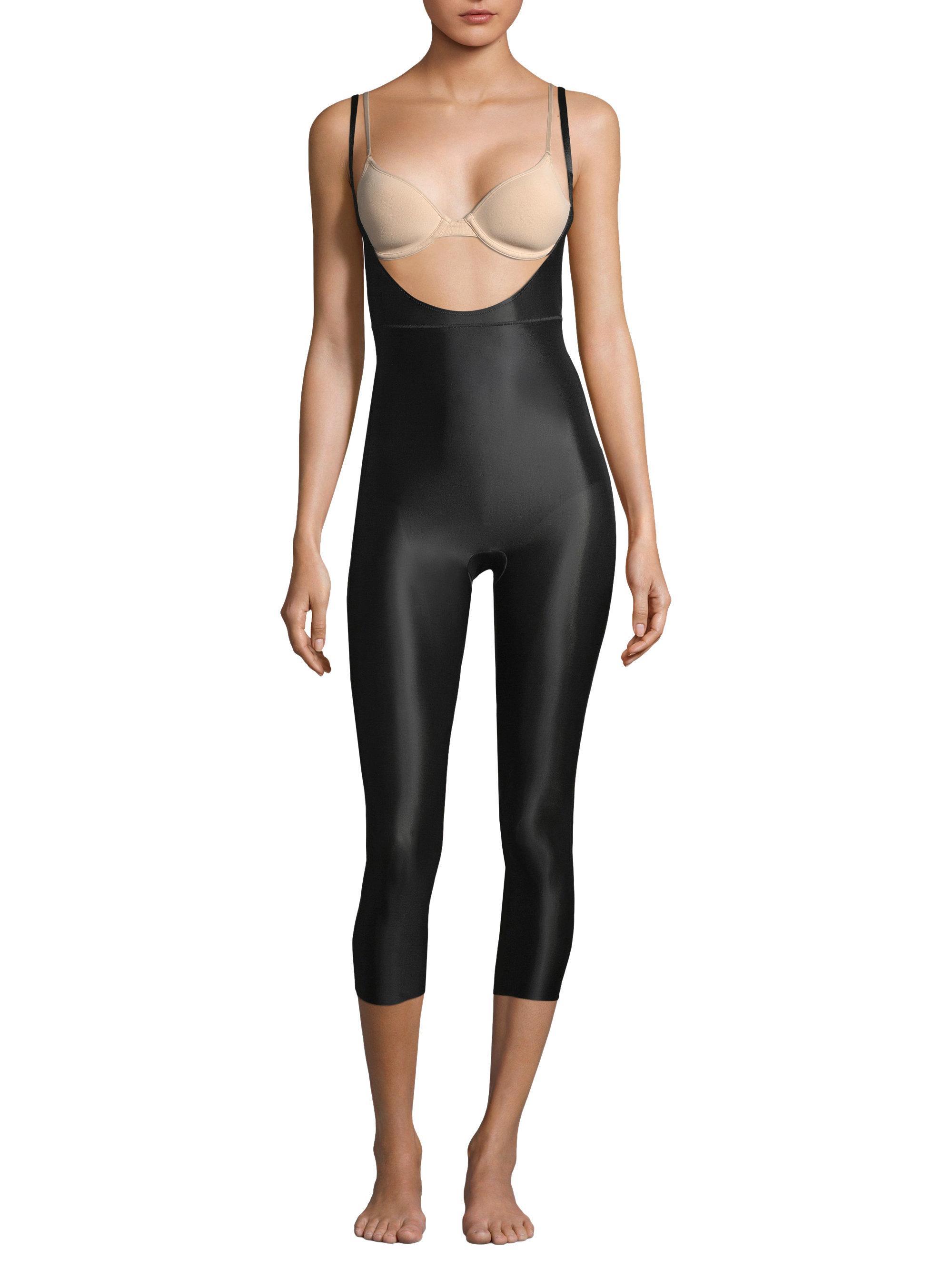68aa3c9e38d Spanx Women s Suit Your Fancy Open-bust Bodysuit - Very Black - Size ...