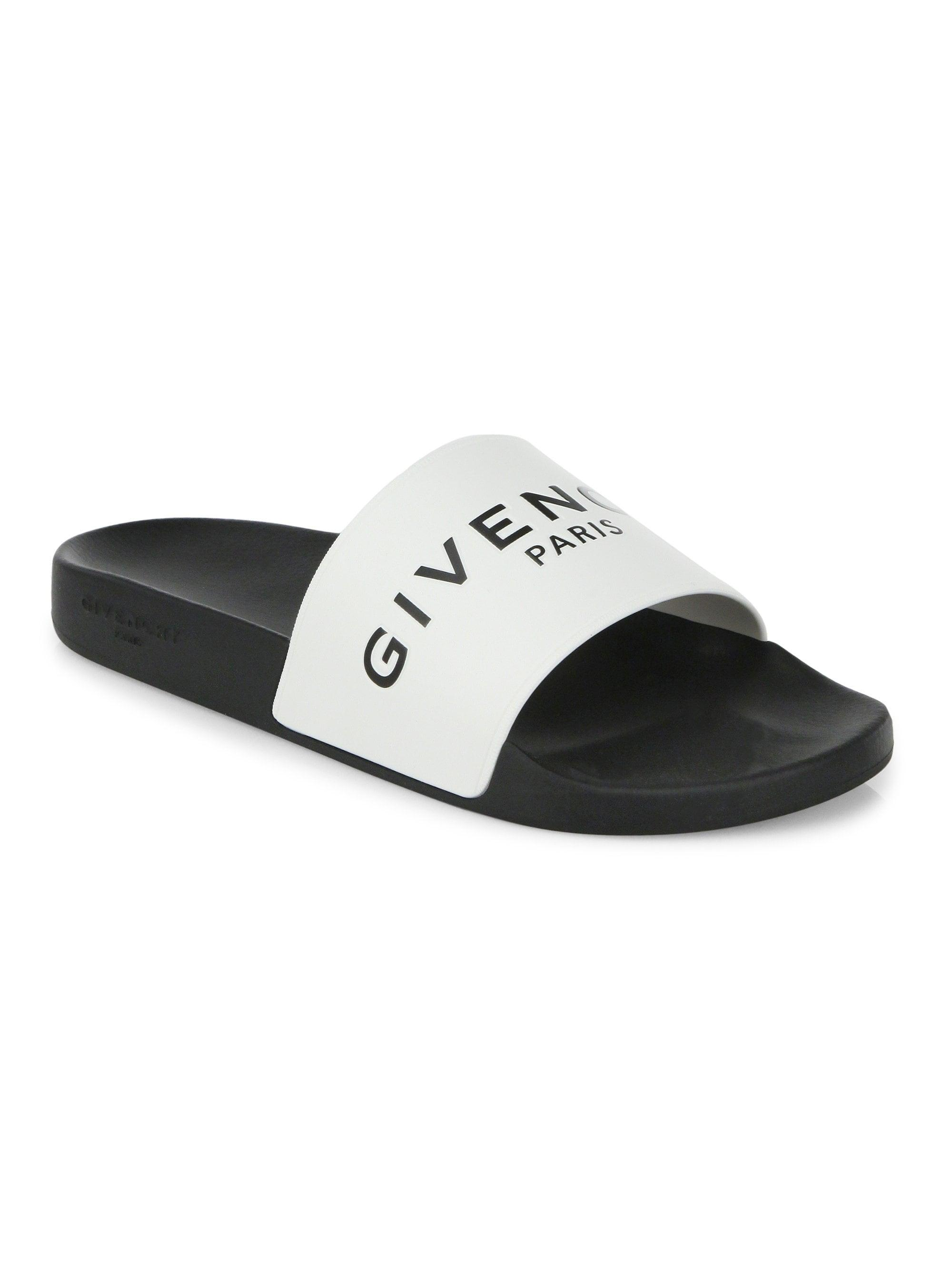 65c6ef0cb6ea Lyst - Givenchy Men s Logo Rubber Slides - Black in Black for Men ...