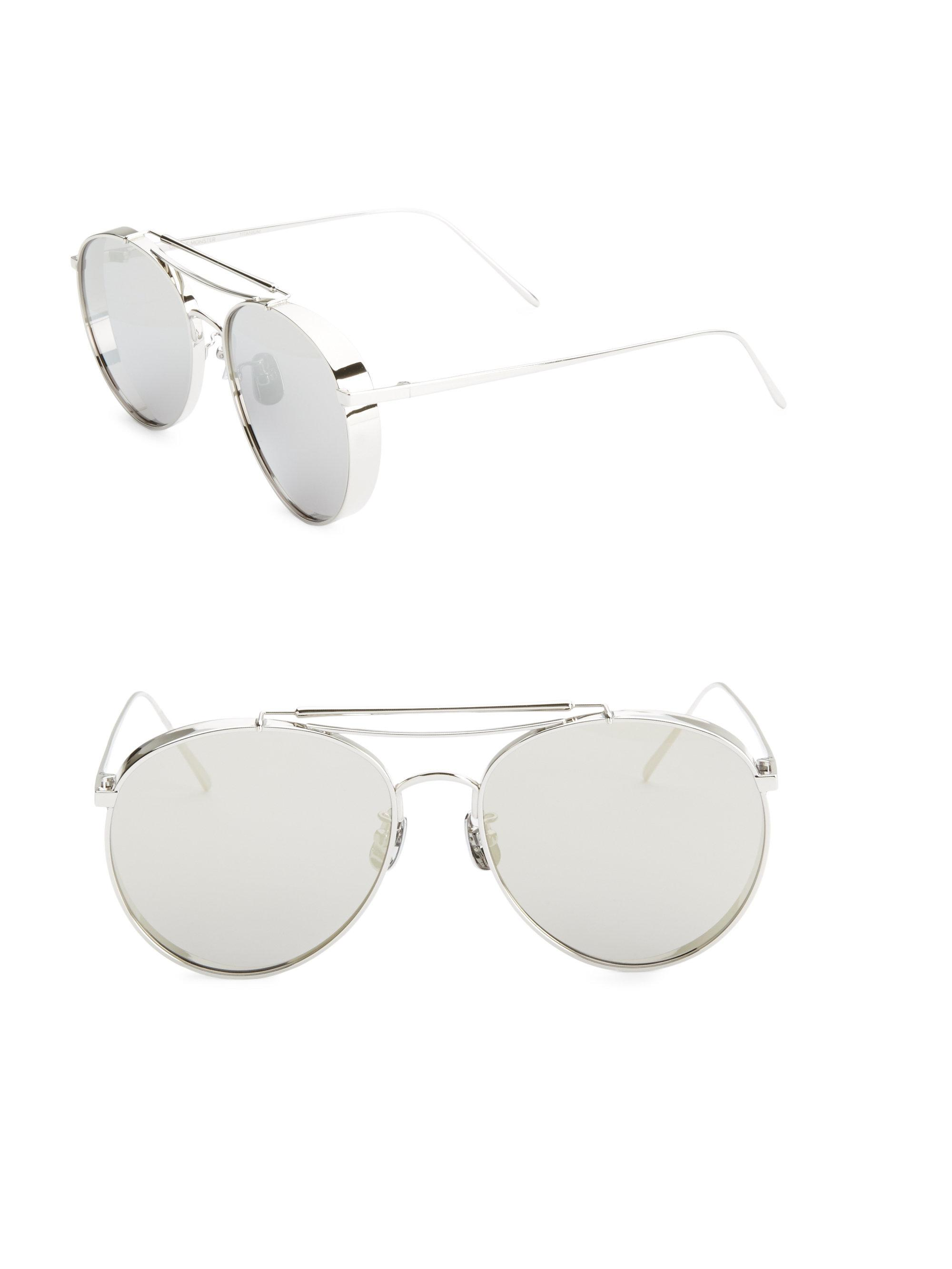 c6eb86f76505 Gentle Monster 56mm Big Bully Aviator Sunglasses in Gray - Lyst
