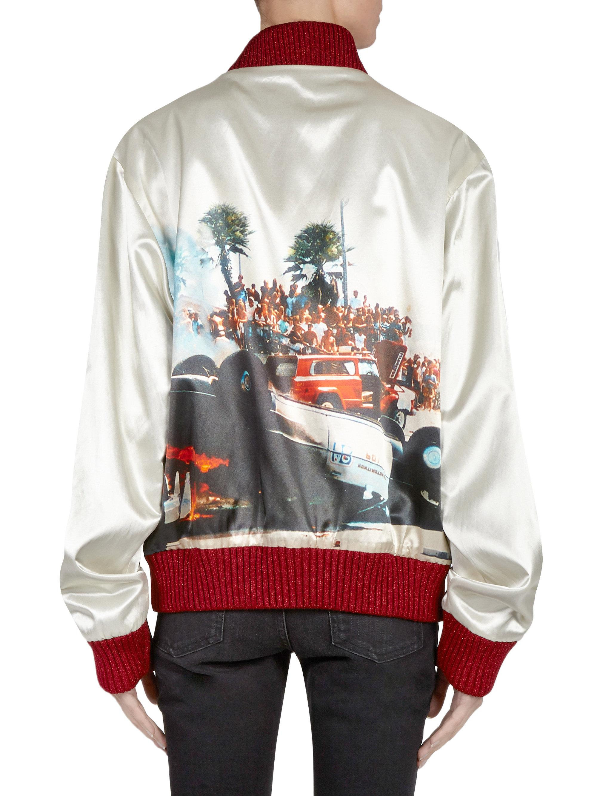 6e949b01aea Lyst - Palm Angels Riot Souvenir Jacket in White