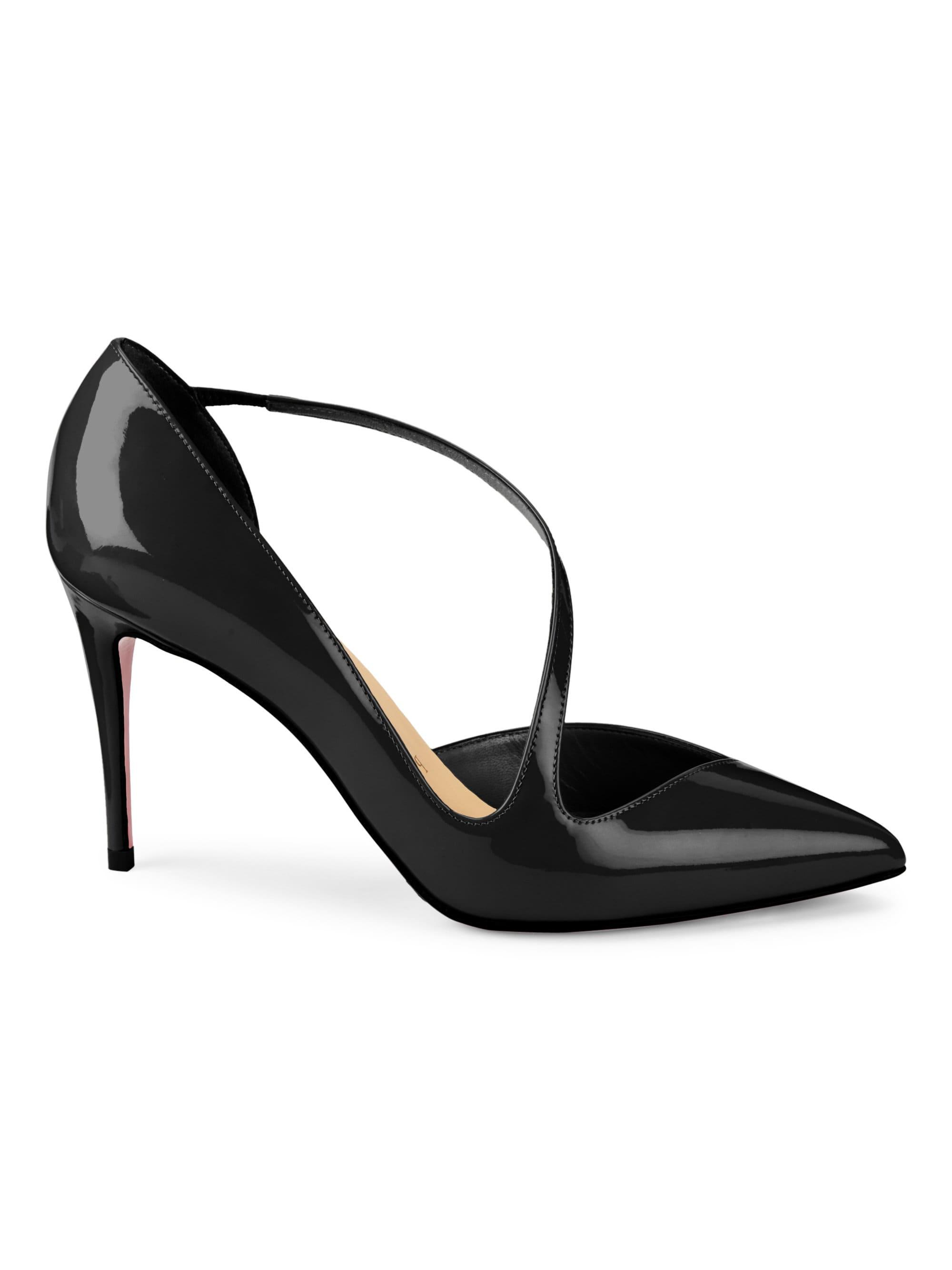 fa7071c1b3ab Christian Louboutin - Black Jumping 85 Point Toe Patent Leather Pumps - Lyst