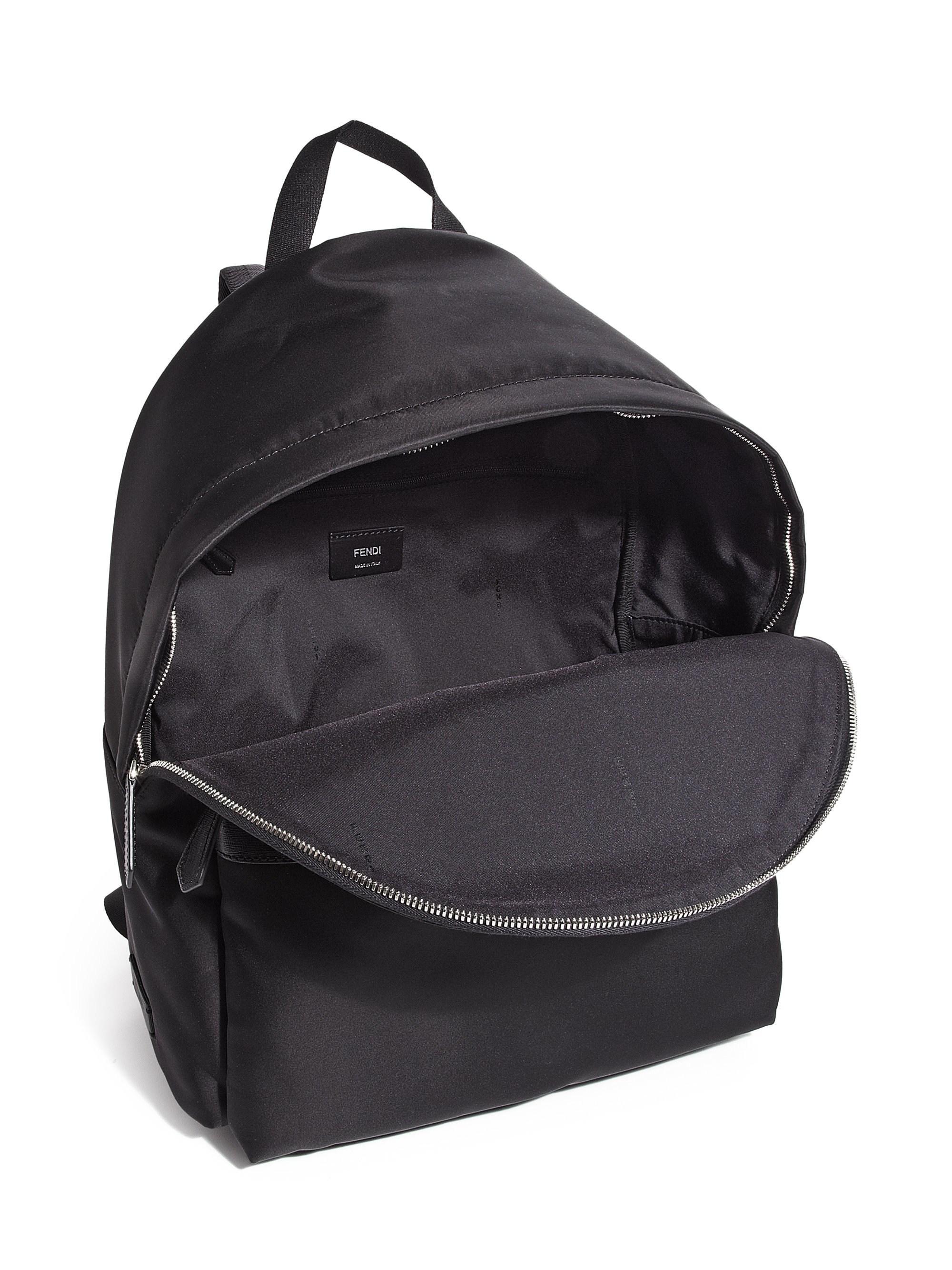 db6089a663f3 Lyst - Fendi Nylon Monster Backpack in Black for Men