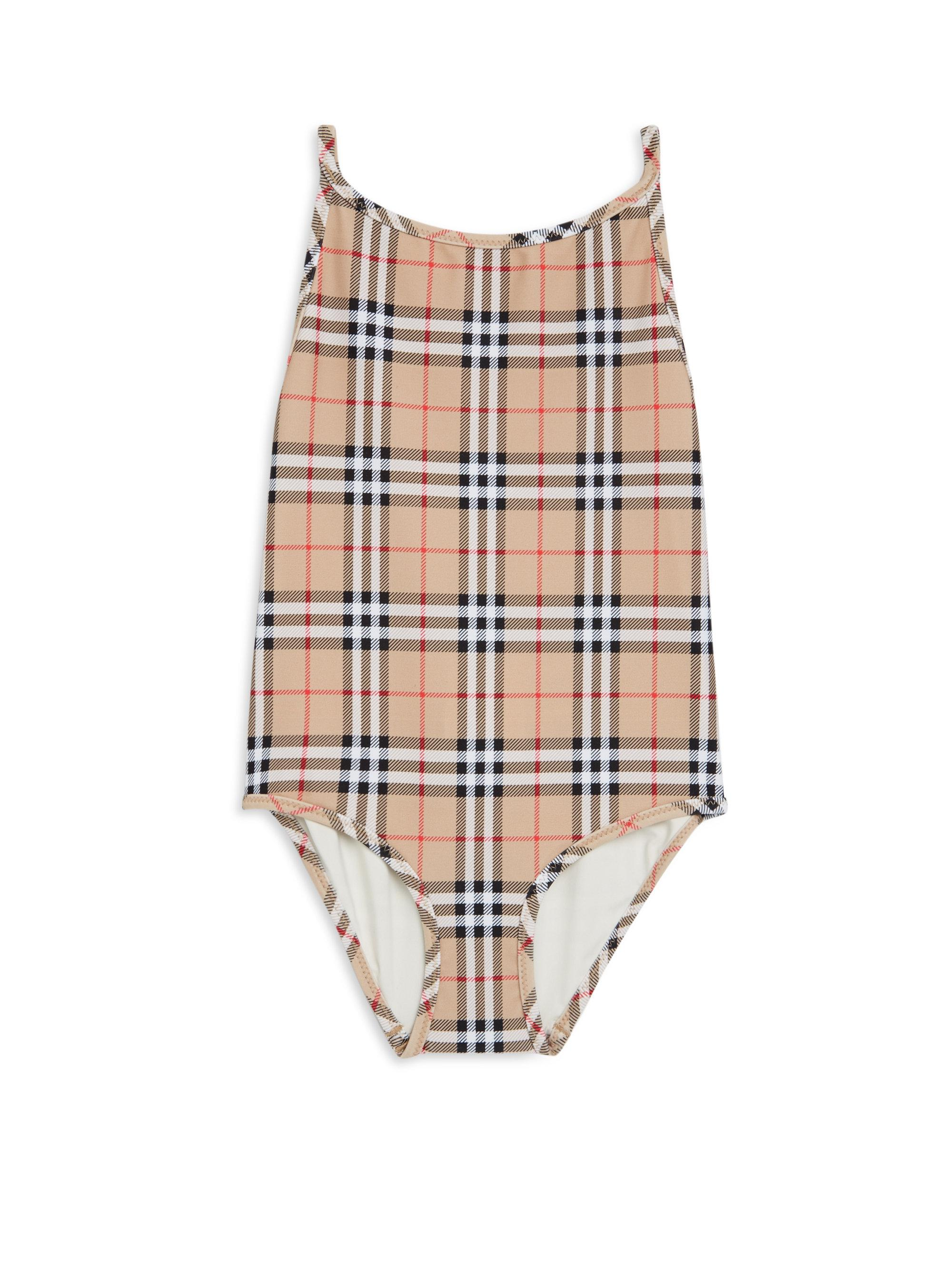 b1334eb41c Burberry Little Girl's & Girl's One-piece Sandie Check Swimsuit - Lyst