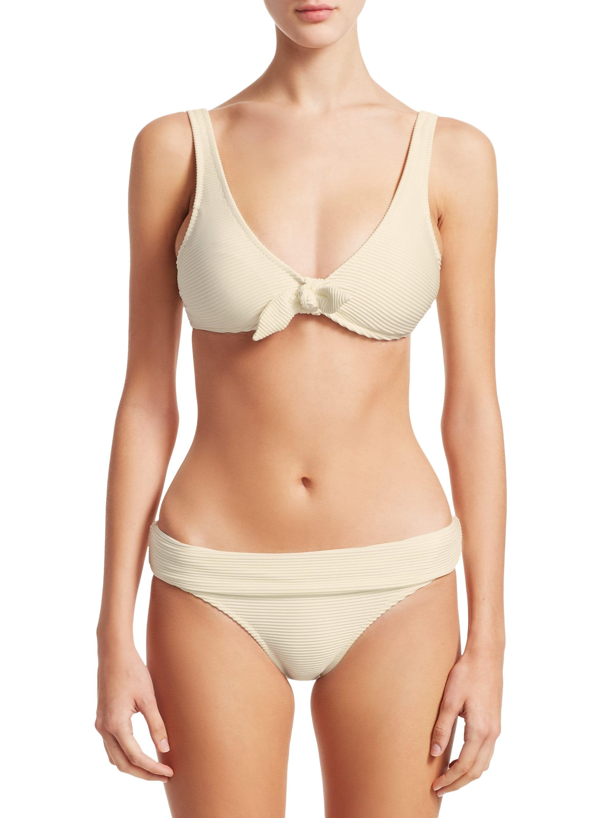 54070ccc54f5f Lyst - Heidi Klein Women s Cote D-azur Knot-front Bikini Top - White ...