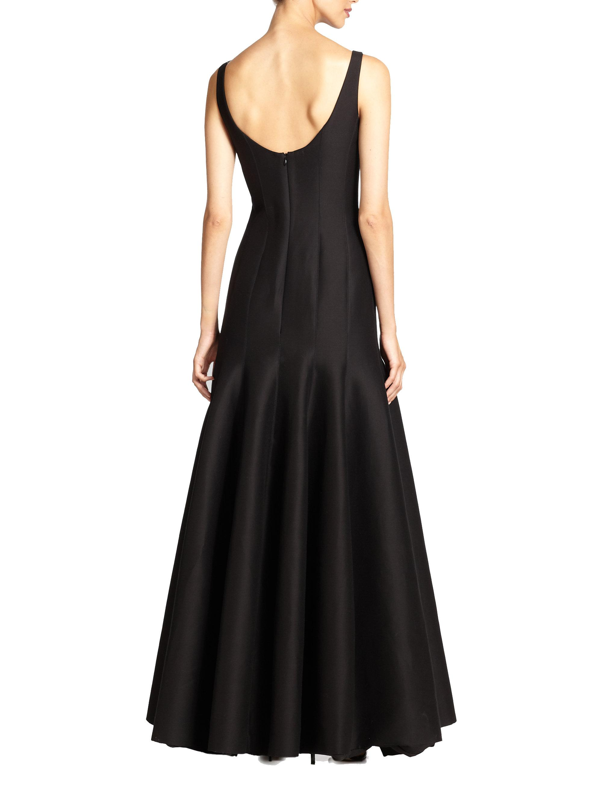 Lyst - Halston Heritage Faille Tulip Gown in Black