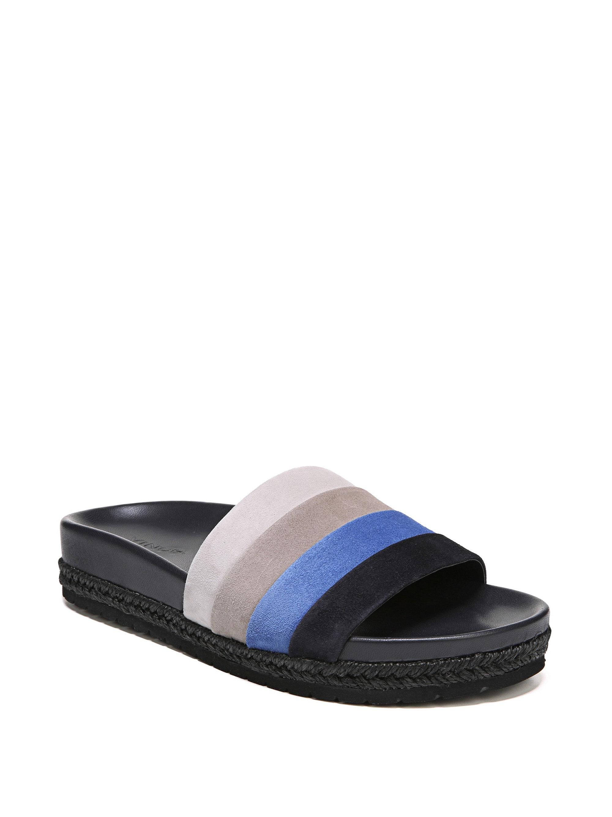 93c38cae89e4d Vince Alisa Suede Sandal in Blue - Save 6.36363636363636% - Lyst