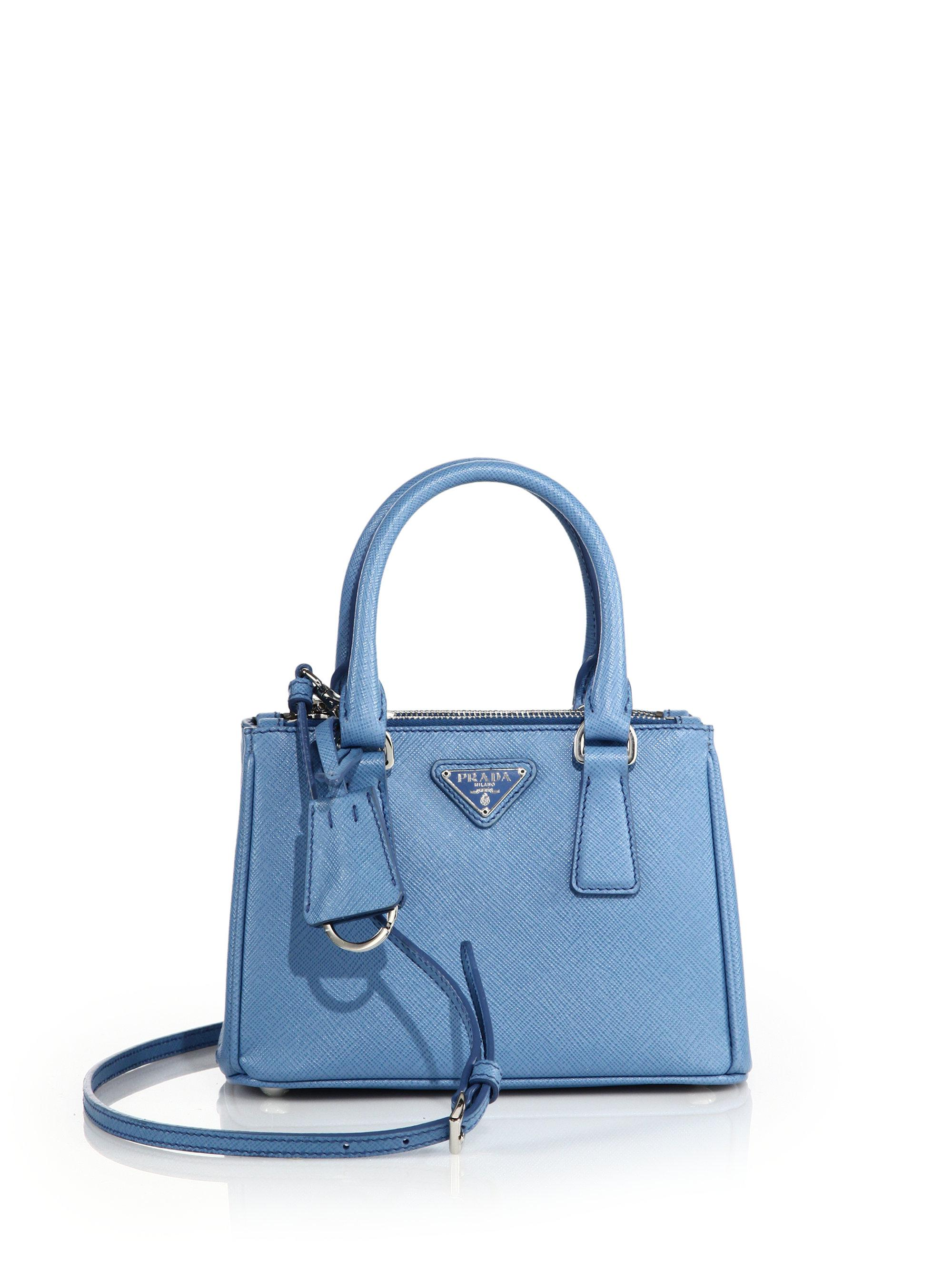 f7d4dfa5d7bc1e Prada Women's Mini Saffiano Leather Double-zip Satchel - Black in ...