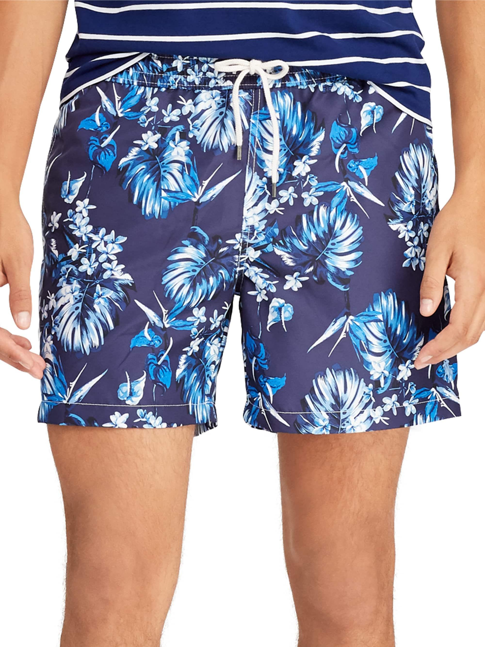 a2543ee505 Lyst - Polo Ralph Lauren Men's Traveler Tropical Bloom Swim Trunks ...