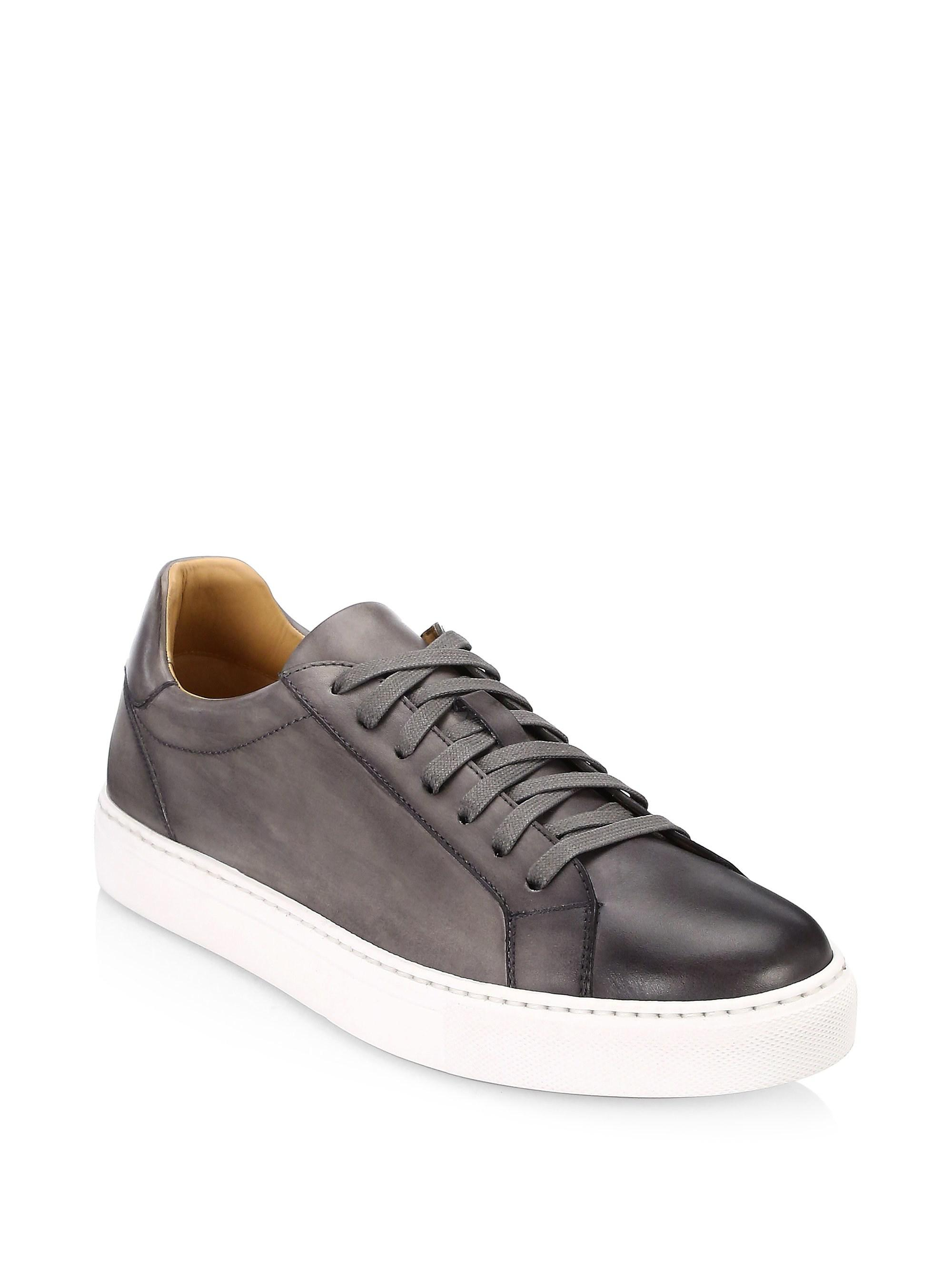 Saks Fifth AvenueCOLLECTION BY MAGNANNI Burnished Leather Lace-Up Sneaker YOrRjb
