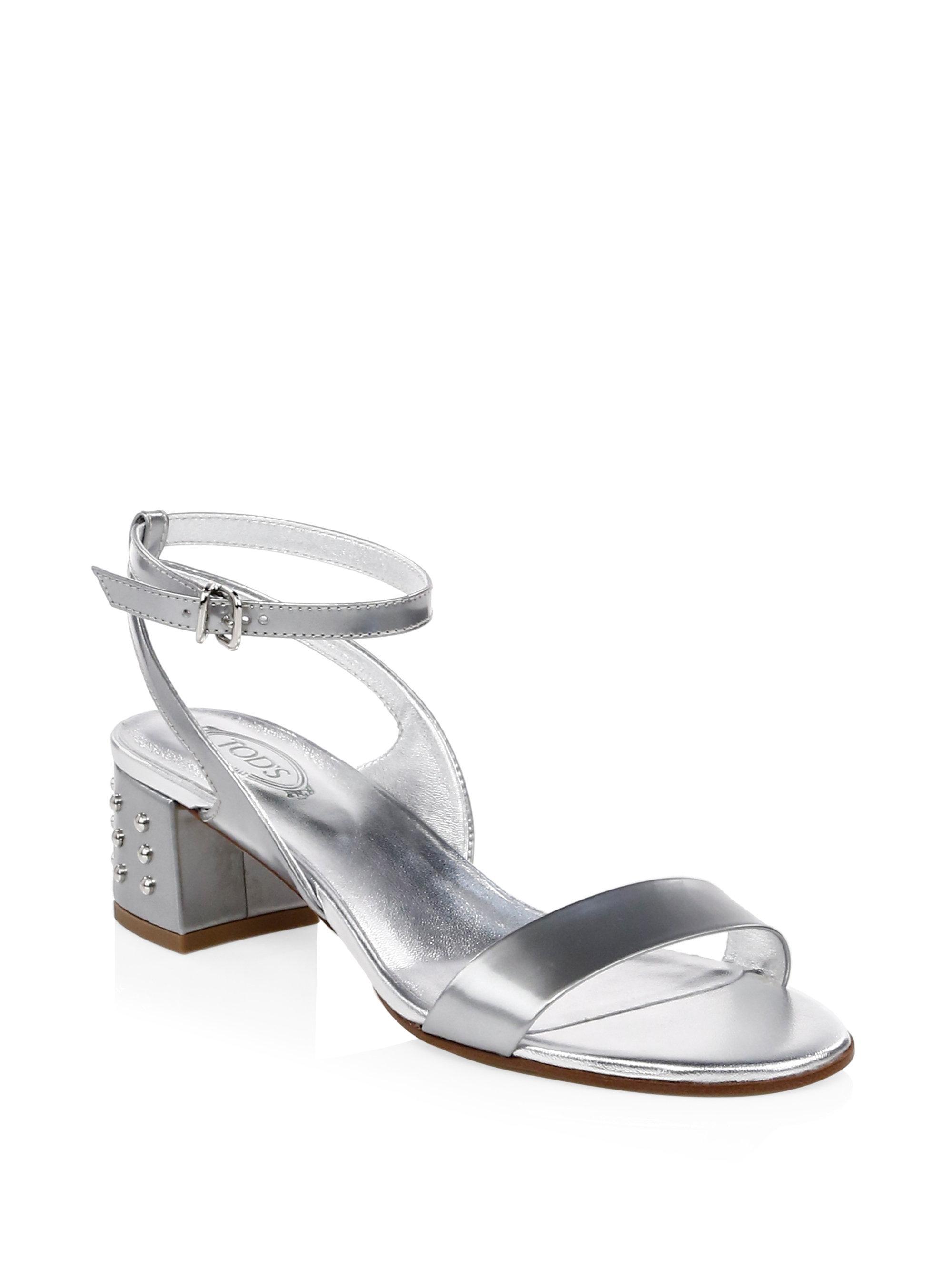 strappy sandals - Metallic Tod's