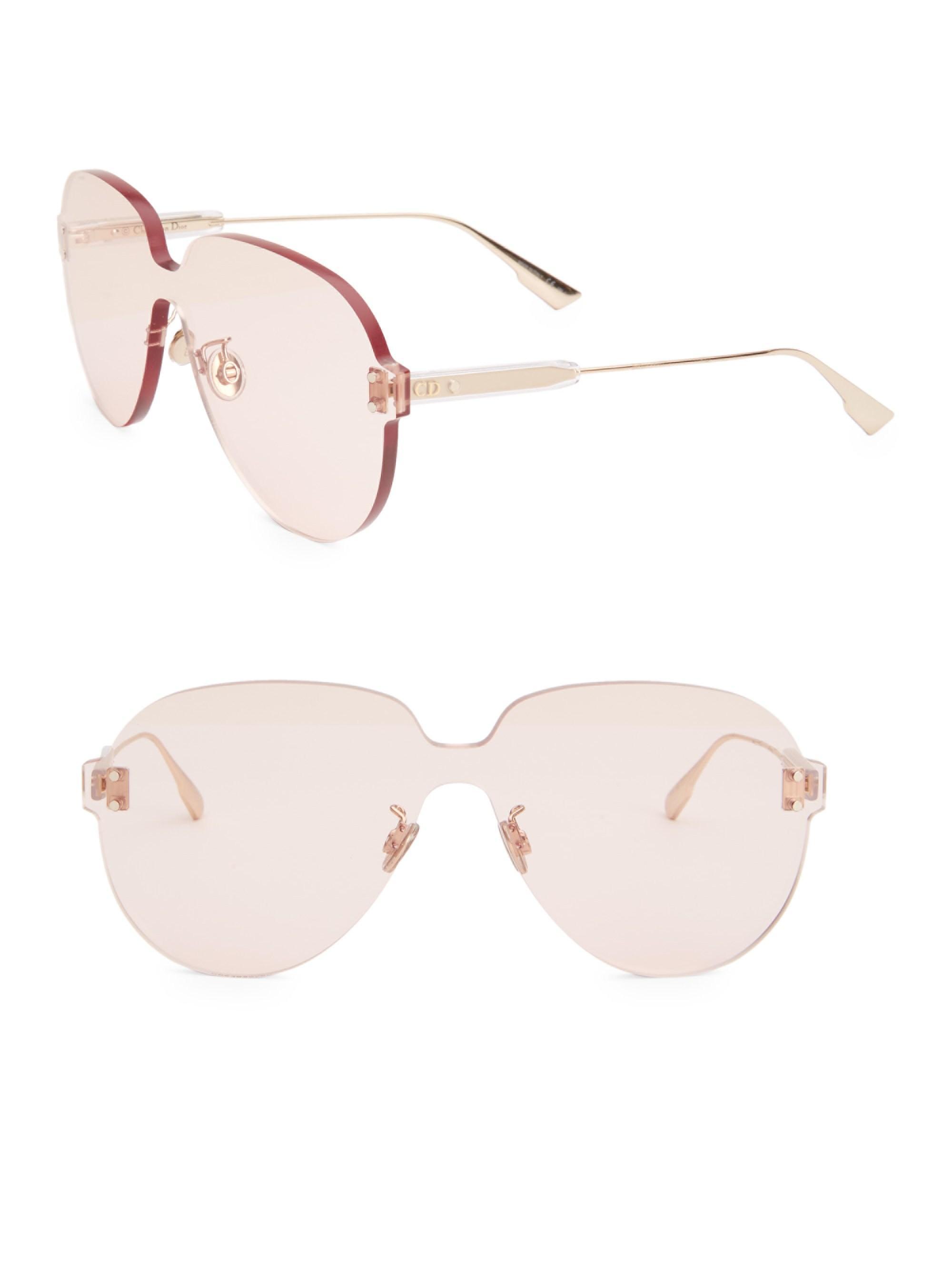 d25917398ee Lyst - Dior Women s Color Quake 3 99mm Aviator Shield Sunglasses ...