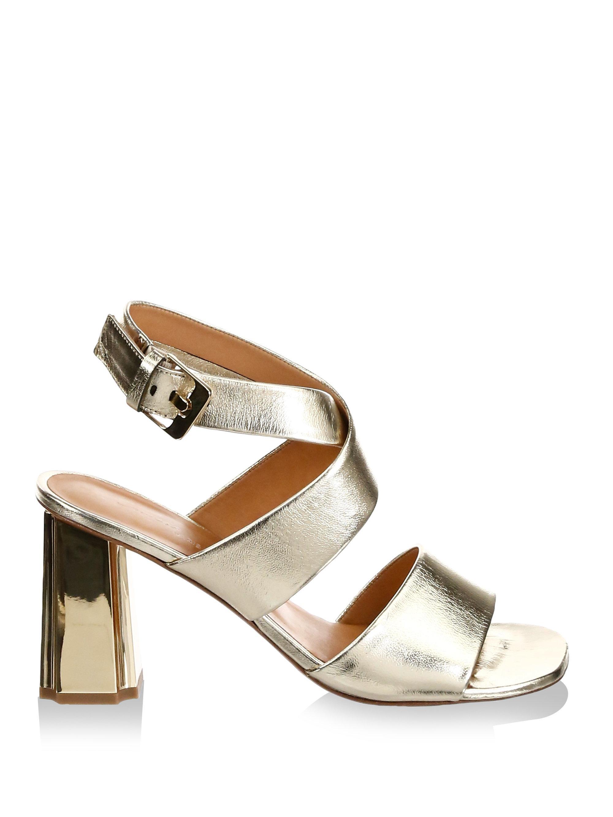 Robert Clergerie Zora Leather Ankle Strap Sandals GUuqGNetX