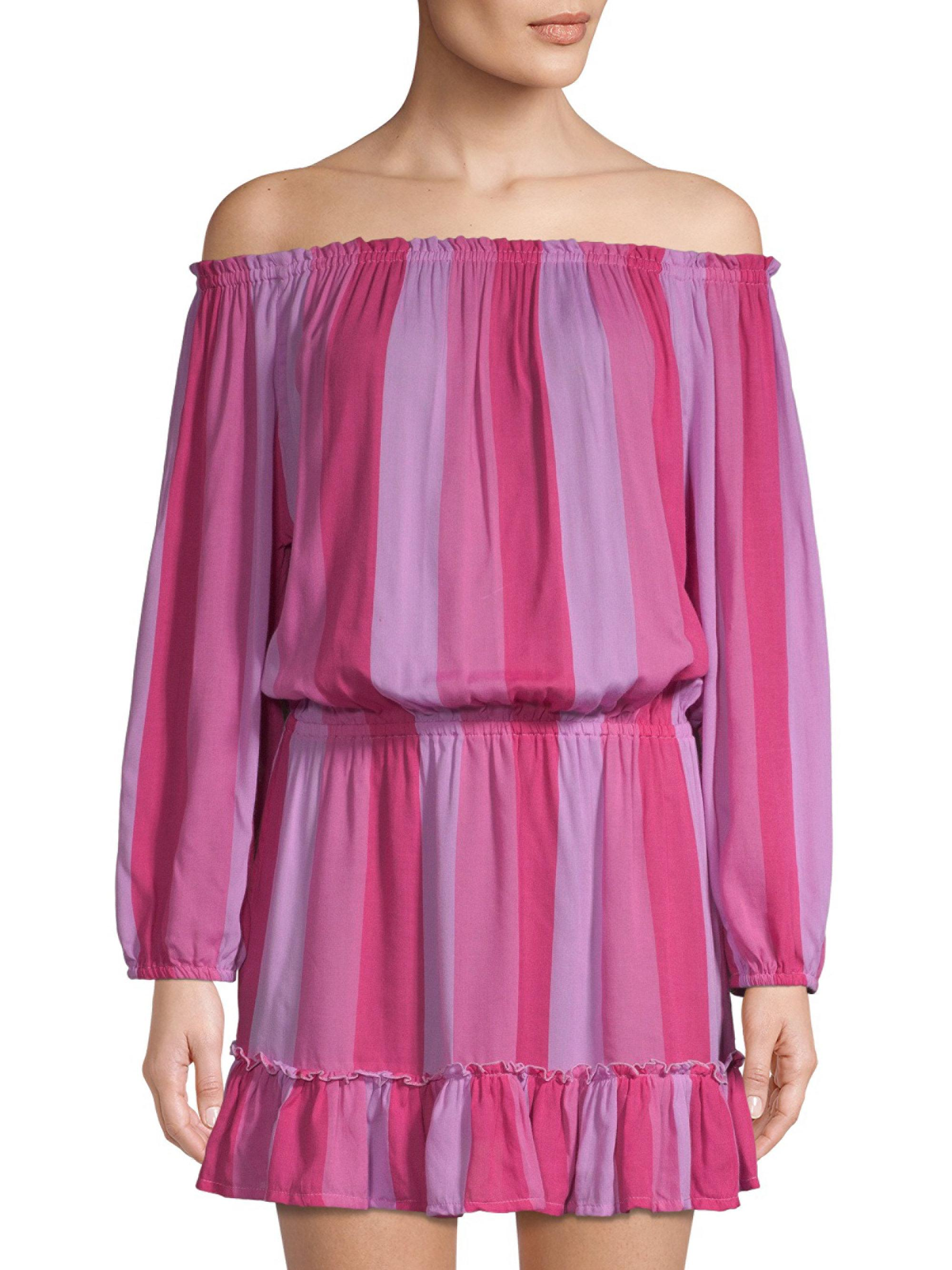 9acea6a99b58 Cool Change Madelyn Off-the-shoulder Tunic Dress in Pink - Lyst