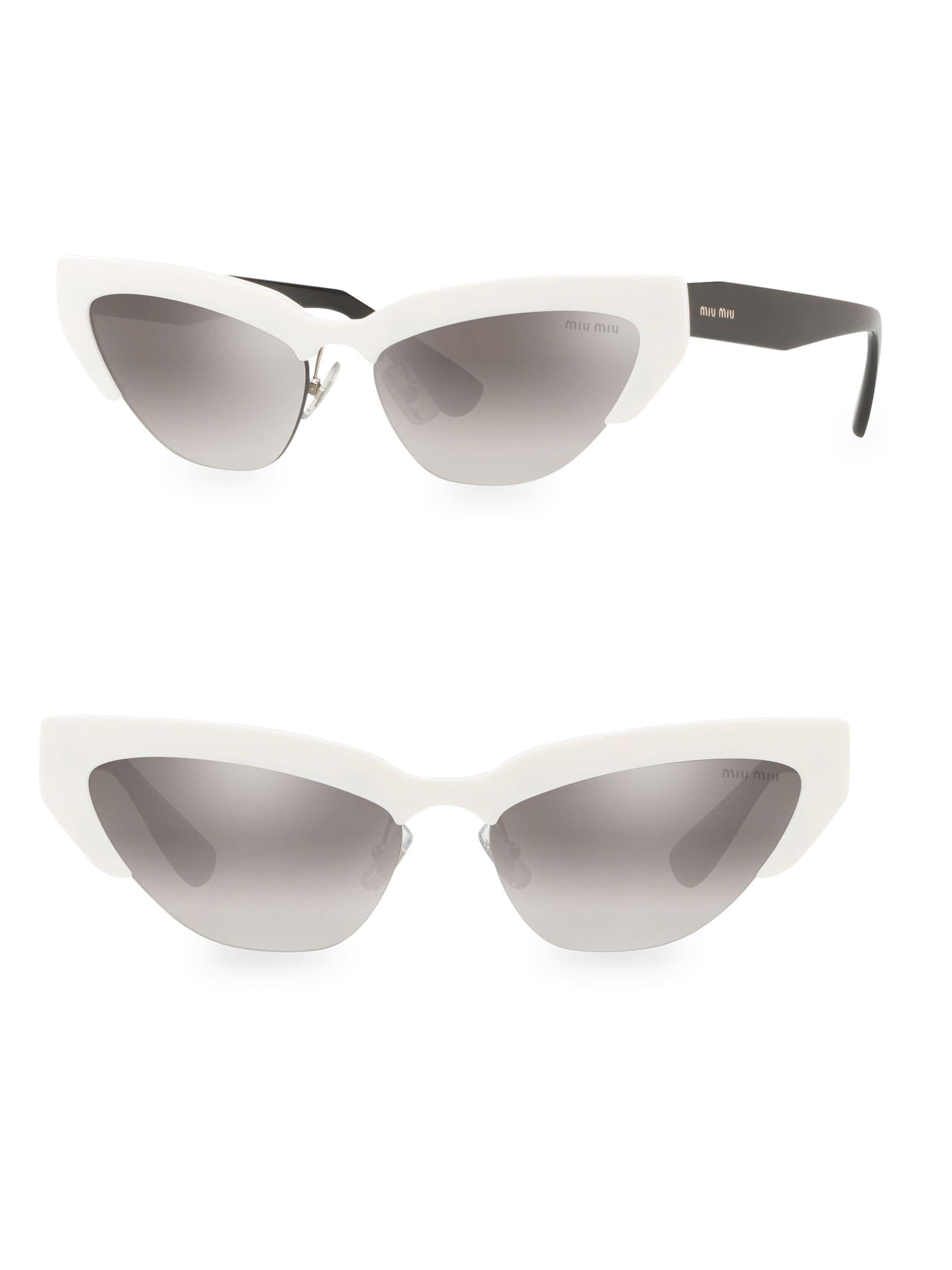 2600760457f2 Lyst - Miu Miu Cat-eye Acetate Sunglasses in Gray