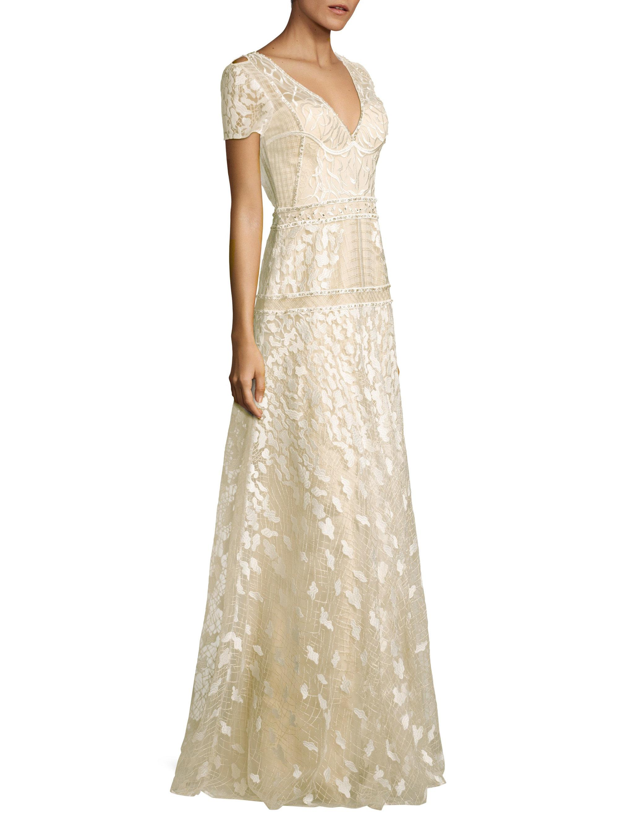 b79854d762a Basix Black Label Danah Embroidered Gown in White - Lyst