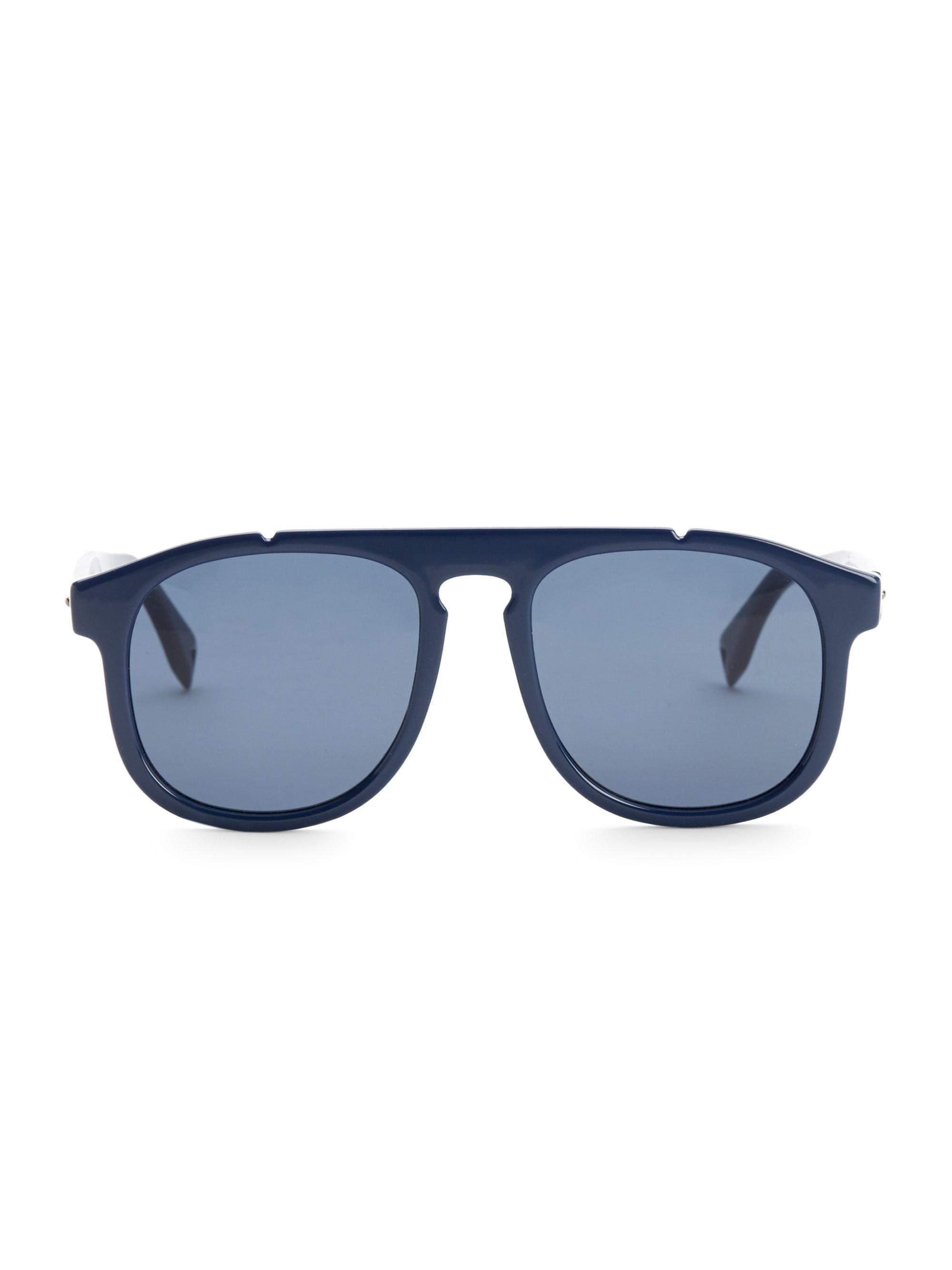 5e9d4419926 Fendi. Blue Men s 54mm Pilot Sunglasses - Dark Havana.  295 From Saks Fifth  Avenue