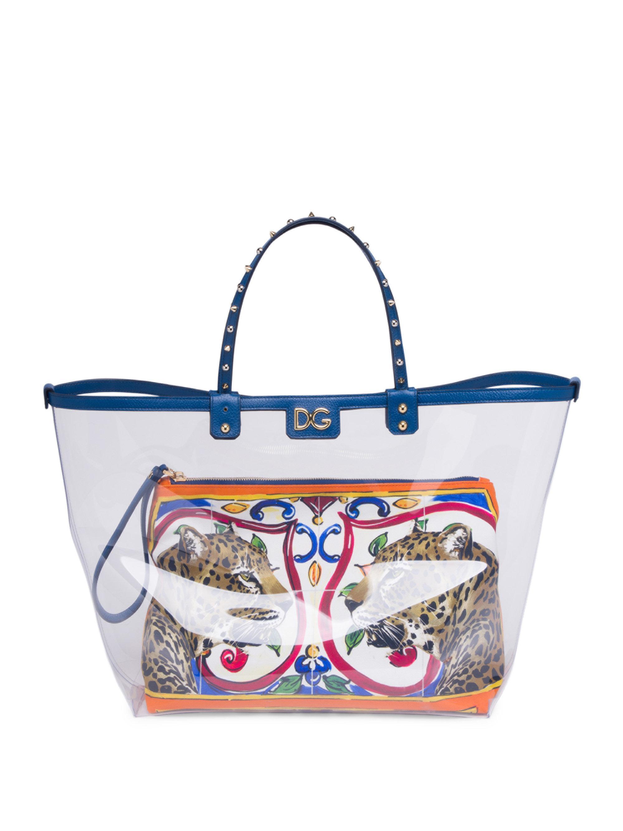be6837083d9 Dolce & Gabbana Maiolica Leo Tote - Lyst